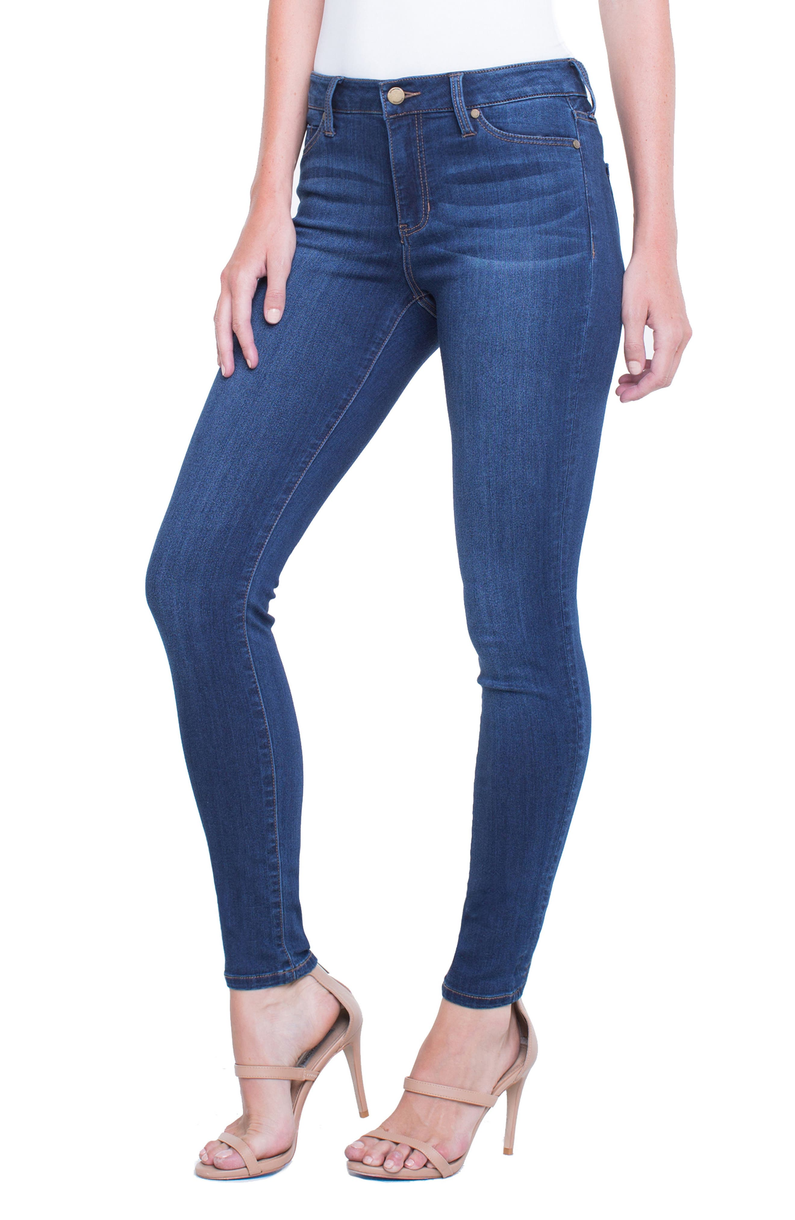 Abby Skinny Jeans,                             Alternate thumbnail 3, color,                             San Andreas Dark