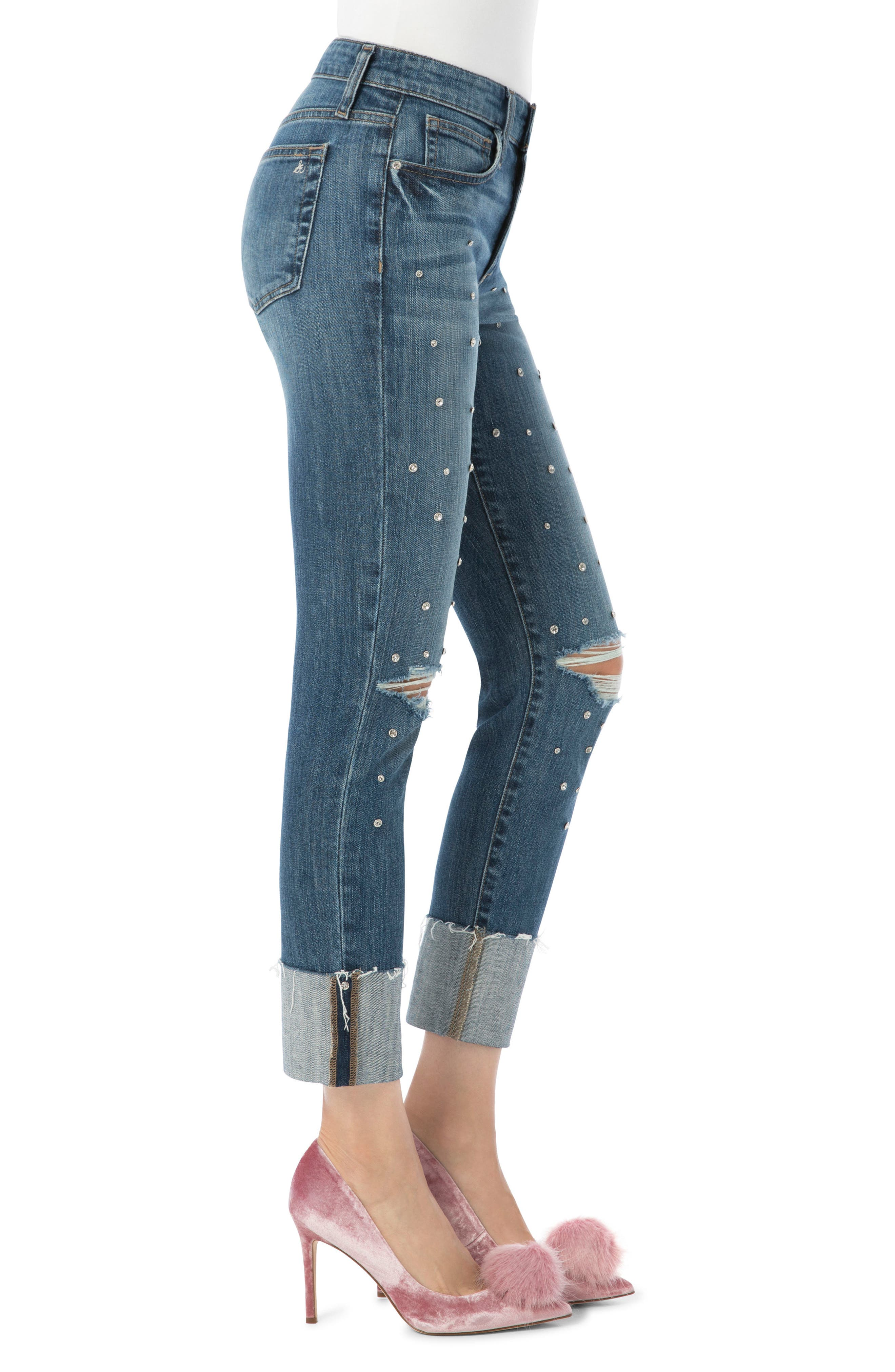 The Mary Jane High Rise Jean,                             Alternate thumbnail 4, color,                             Sunny