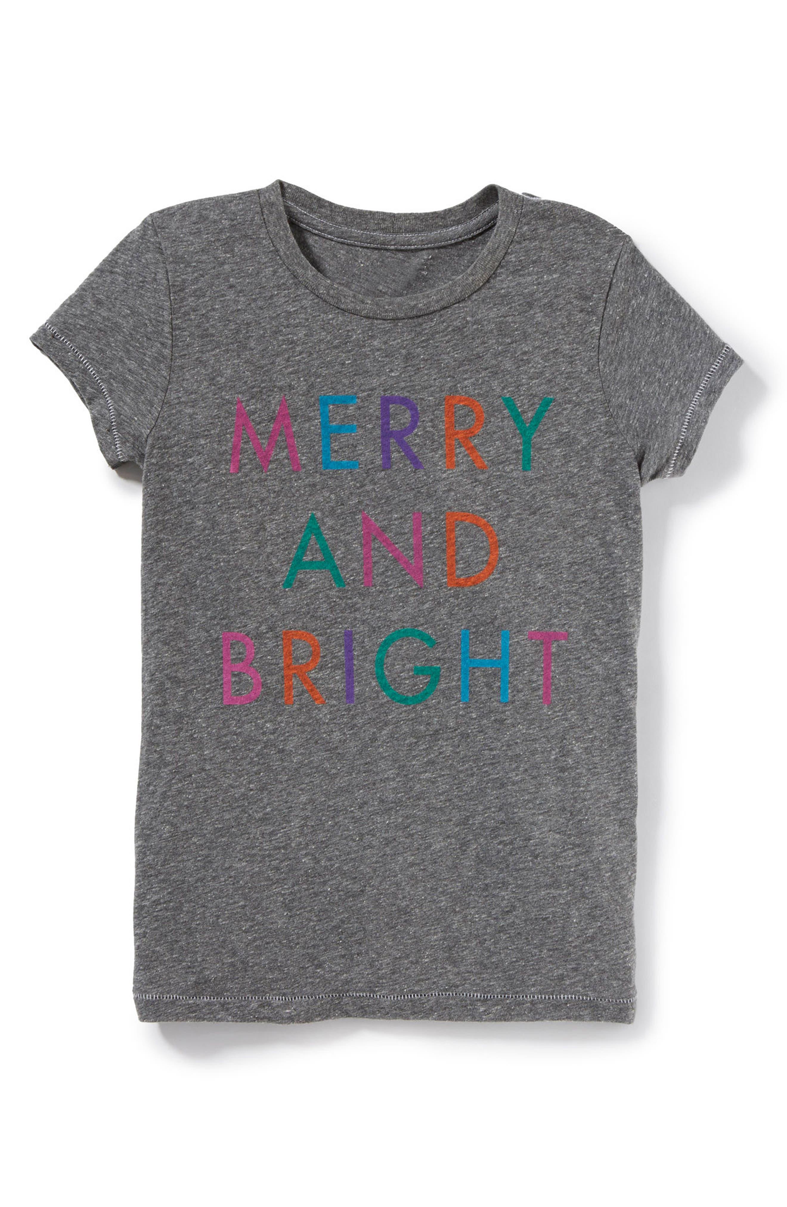 Main Image - Peek Merry & Bright Graphic Tee (Toddler Girls, Little Girls & Big Girls)