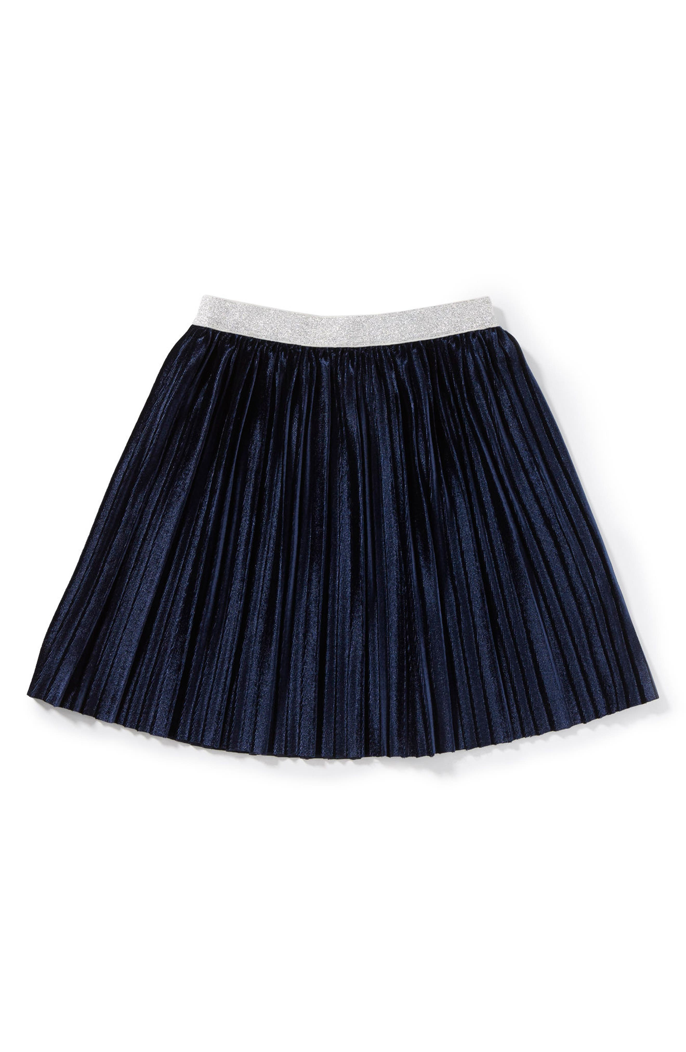 Marissa Pleated Skirt,                         Main,                         color, Navy