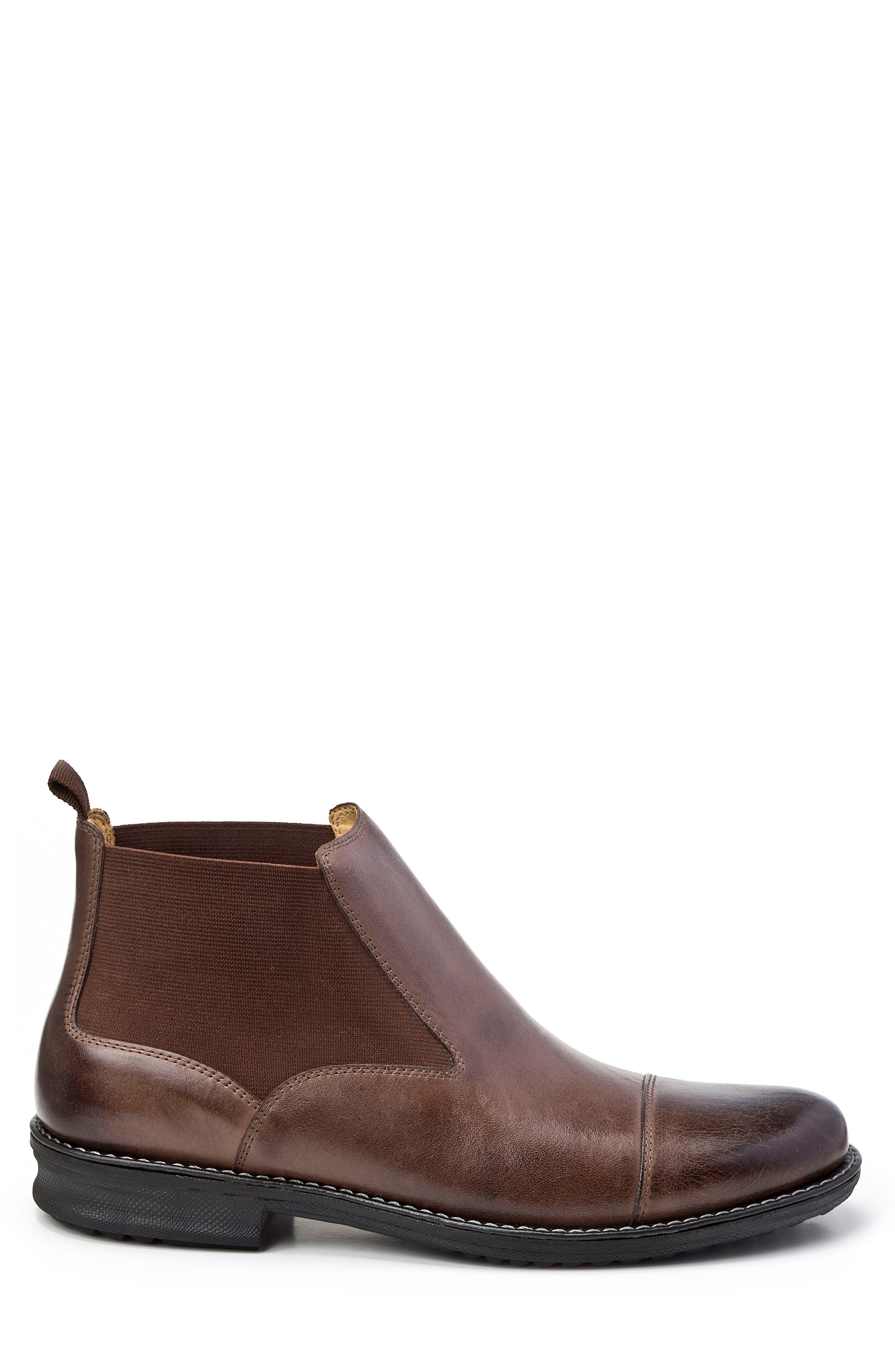 Norbert Chelsea Boot,                             Alternate thumbnail 3, color,                             Brown Leather