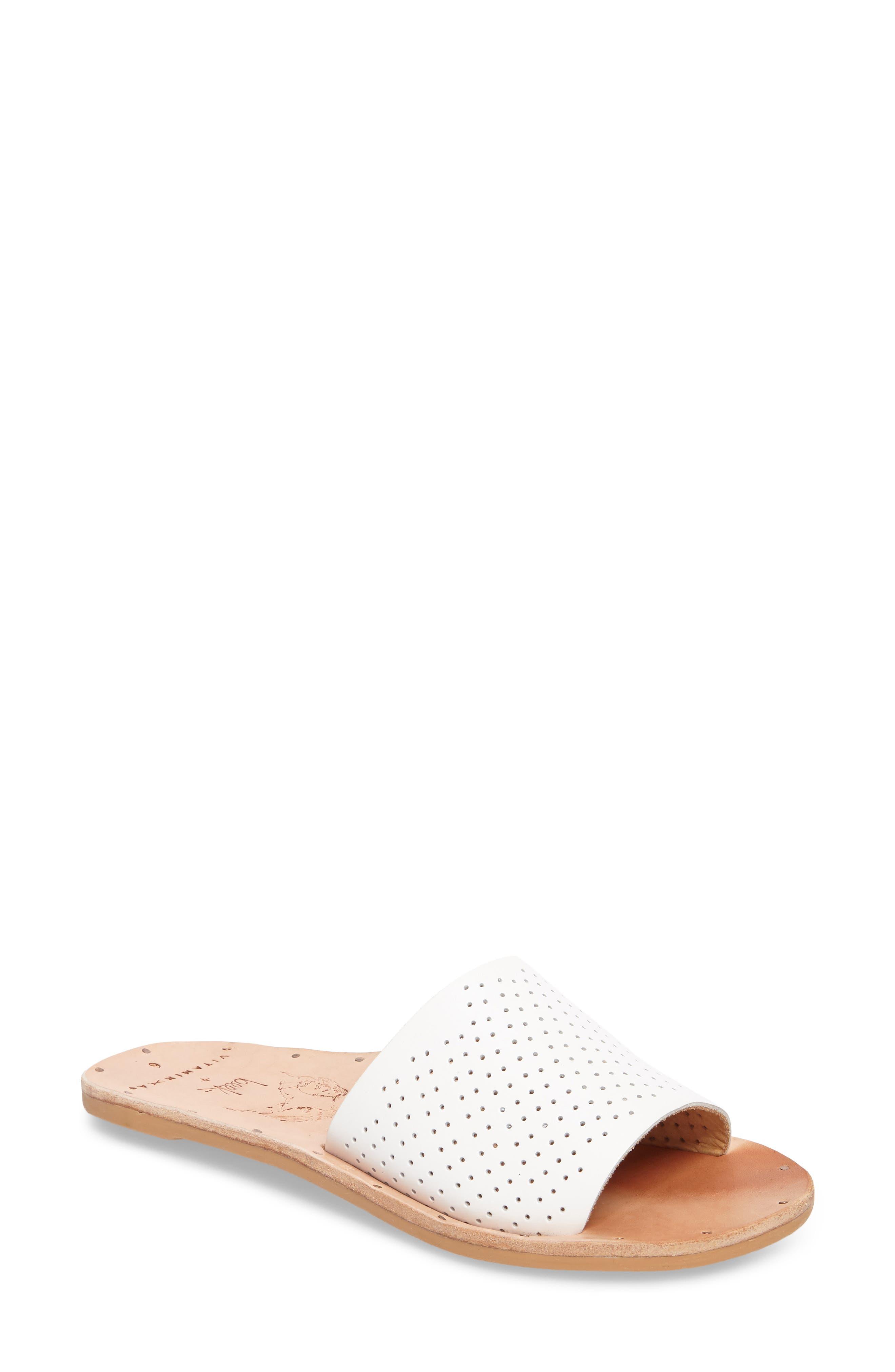 Mockingbird Sandal,                             Main thumbnail 1, color,                             White Perf/ Tan