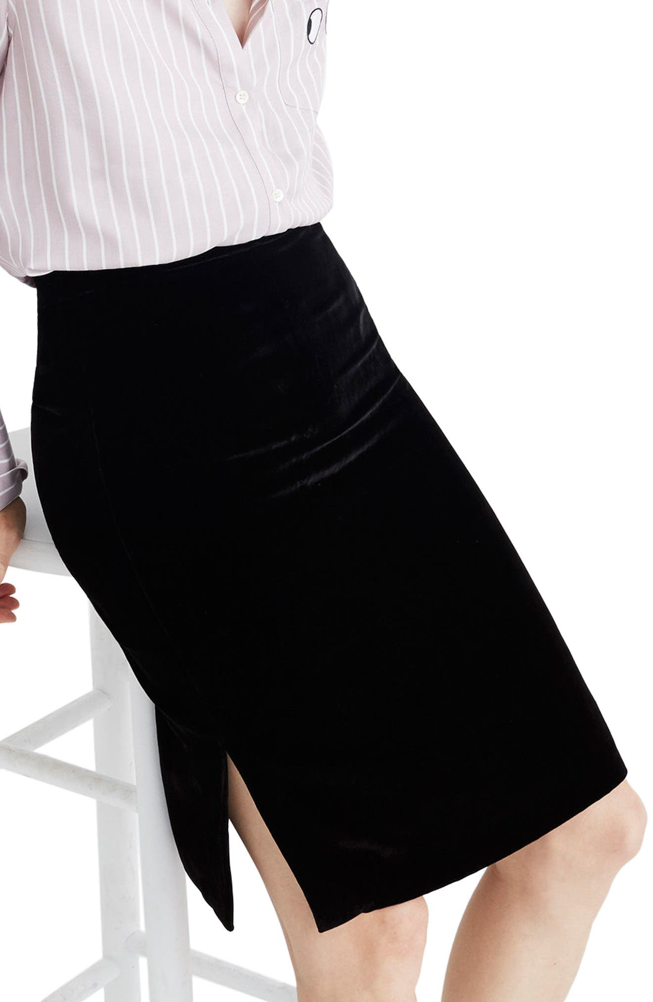 Madewell Velvet Pencil Skirt