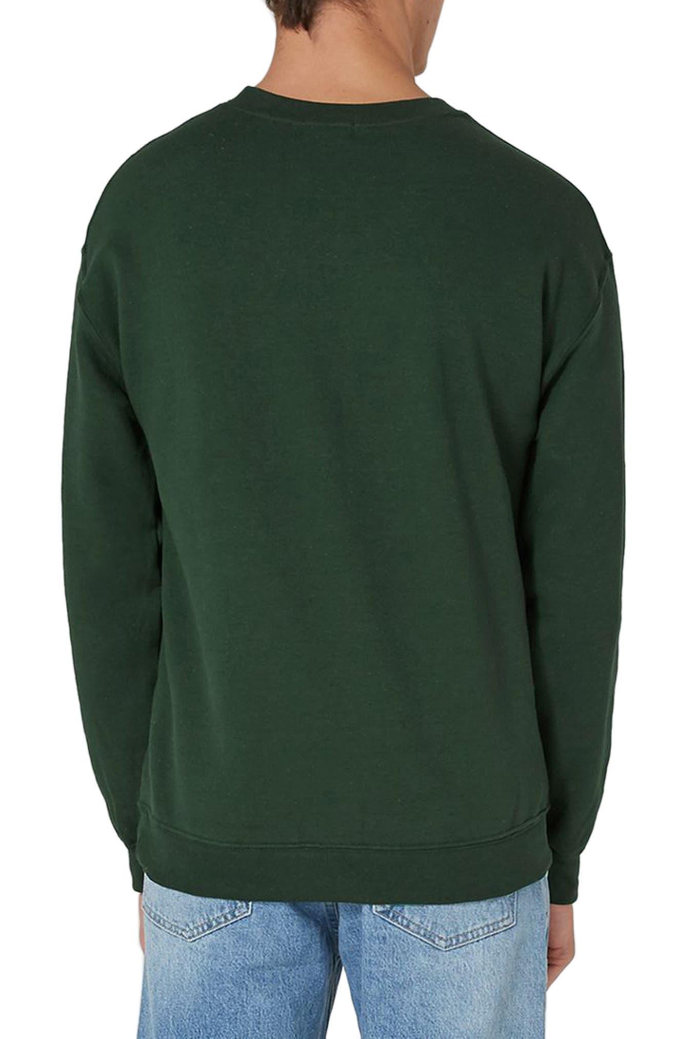 Tiger Patch Sweatshirt,                             Alternate thumbnail 2, color,                             Olive