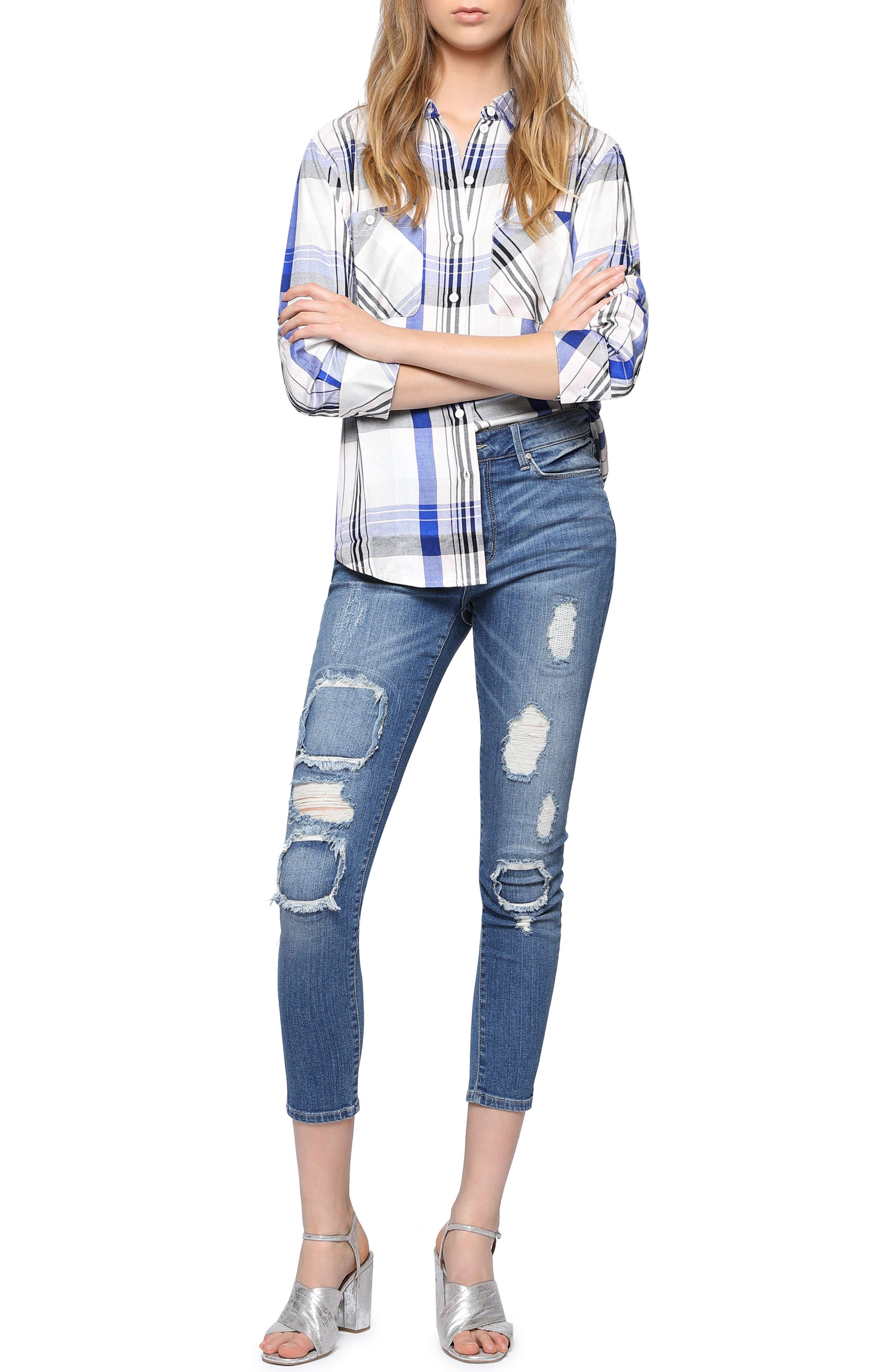 Alternate Image 3  - Sanctuary Robbie Rip & Repair Skinny Ankle Jeans (Taylor)