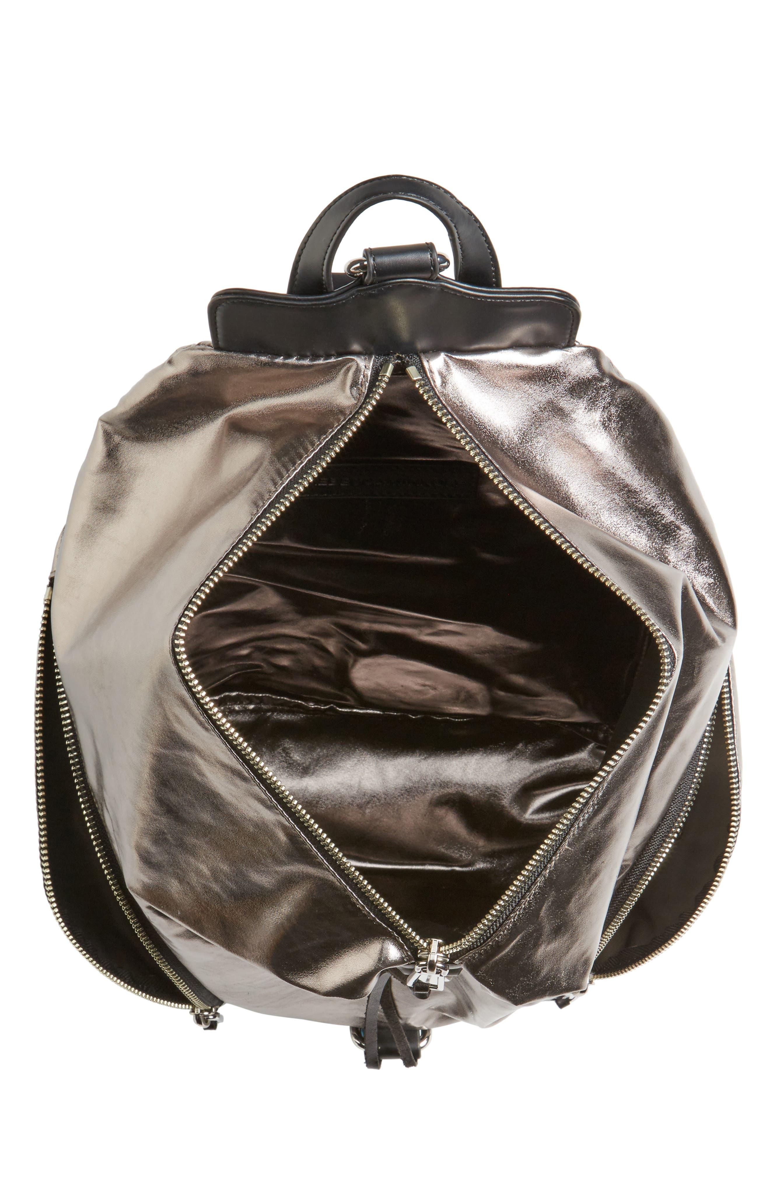 Julian Nylon Backpack,                             Alternate thumbnail 4, color,                             Silver