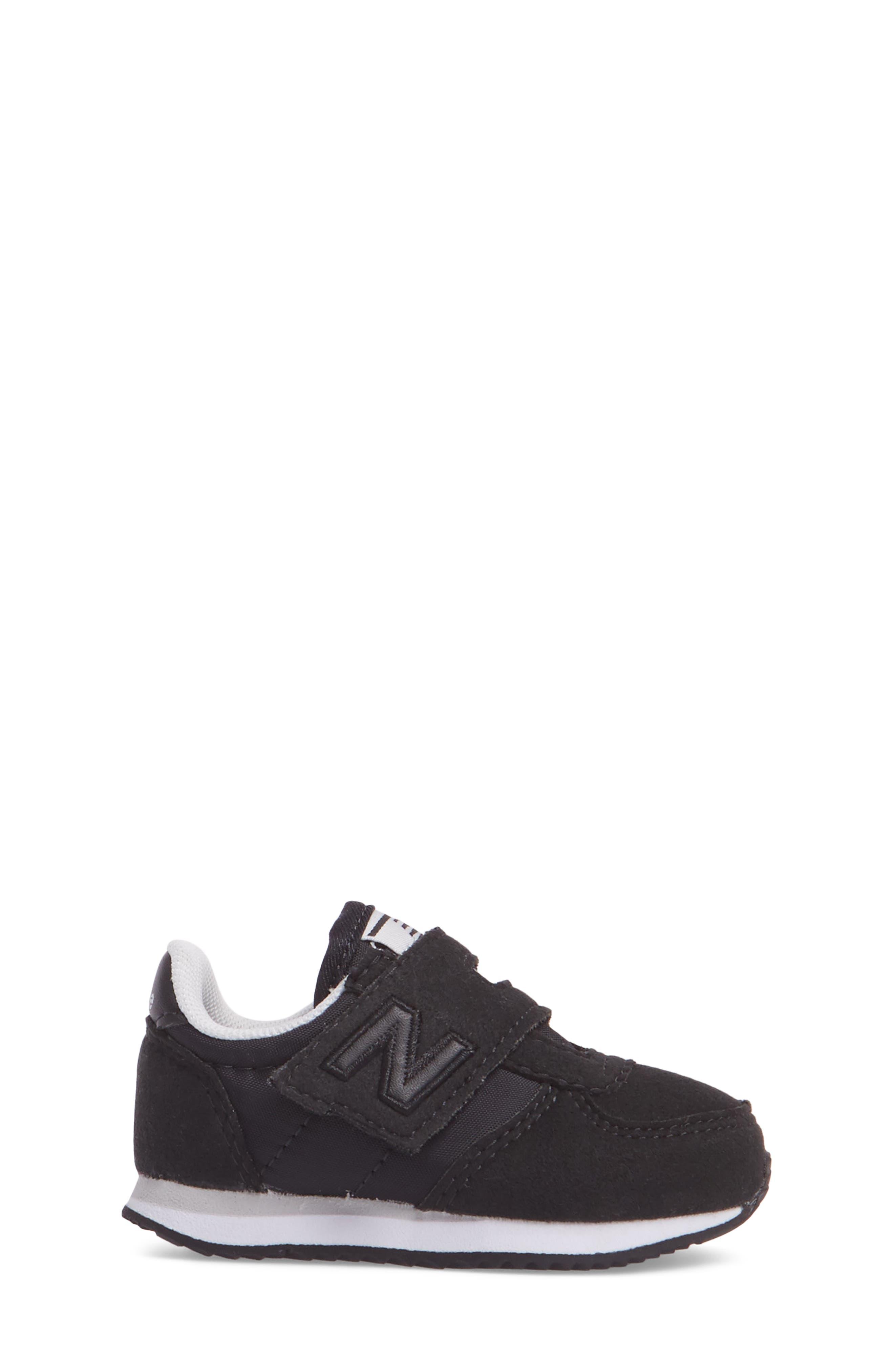 220 Hook and Loop Sneaker,                             Alternate thumbnail 3, color,                             Black