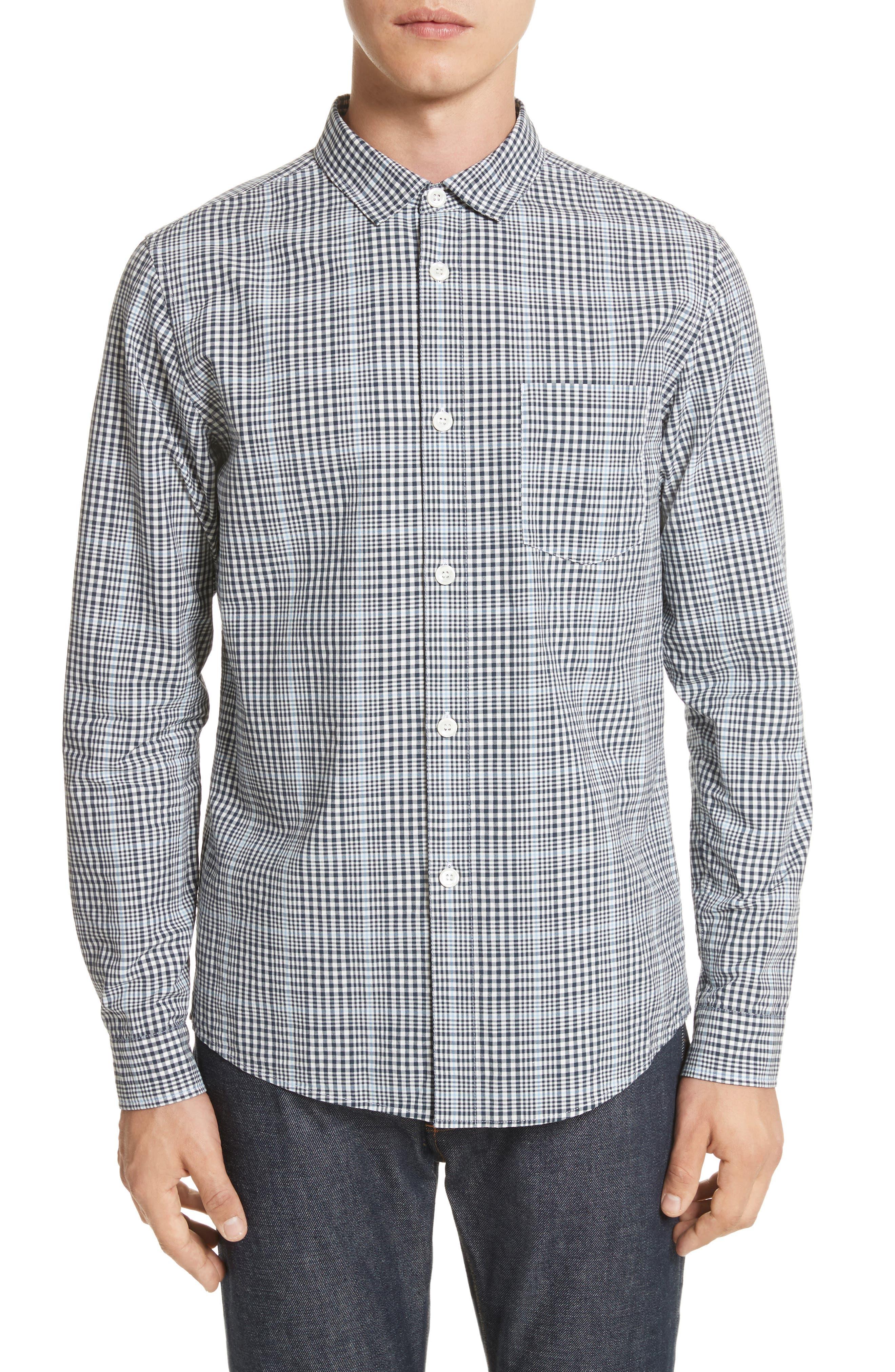 Alternate Image 1 Selected - A.P.C. John Check Woven Shirt