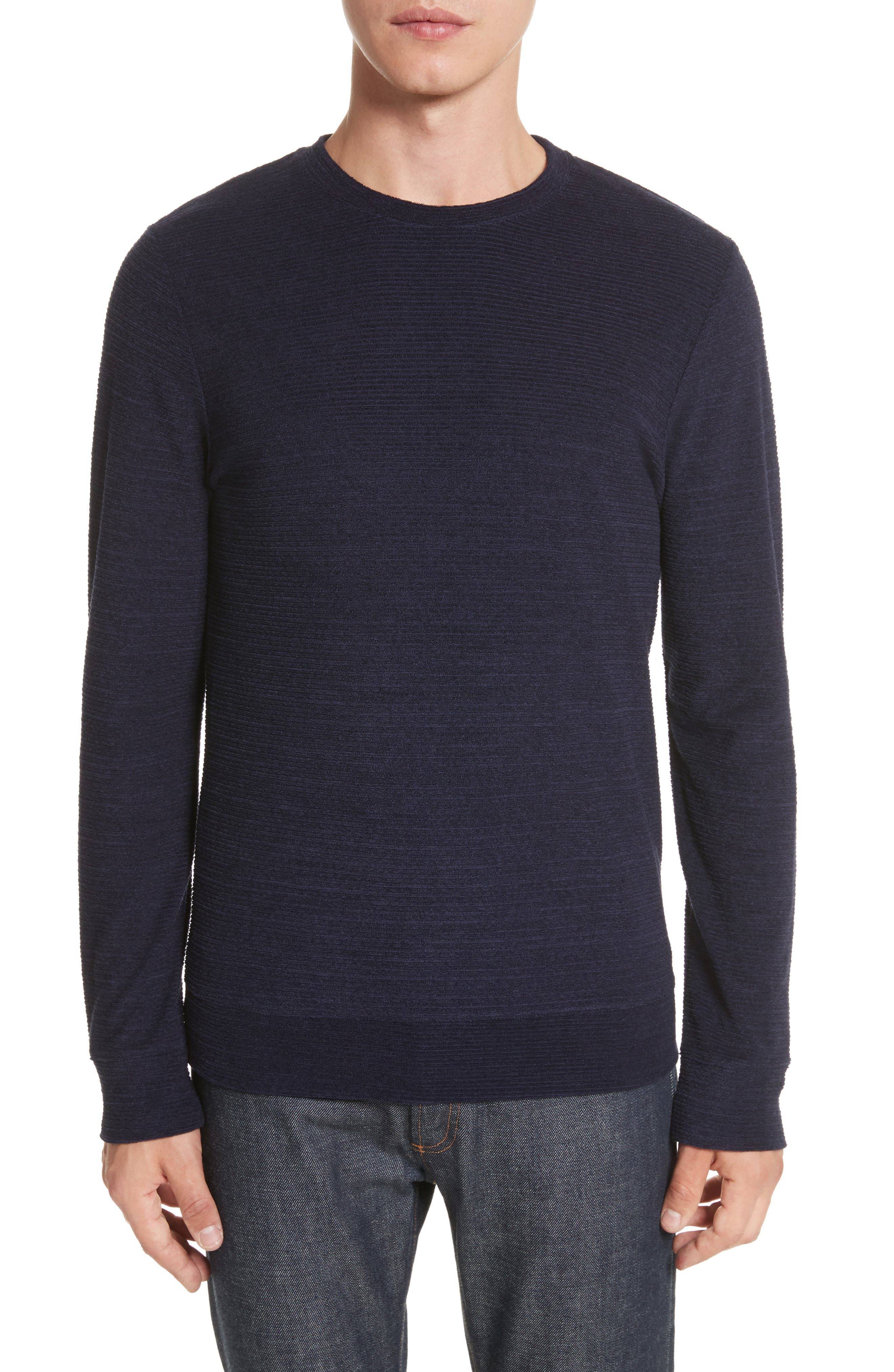 Jeremie Crewneck Sweater,                             Main thumbnail 1, color,                             Marine