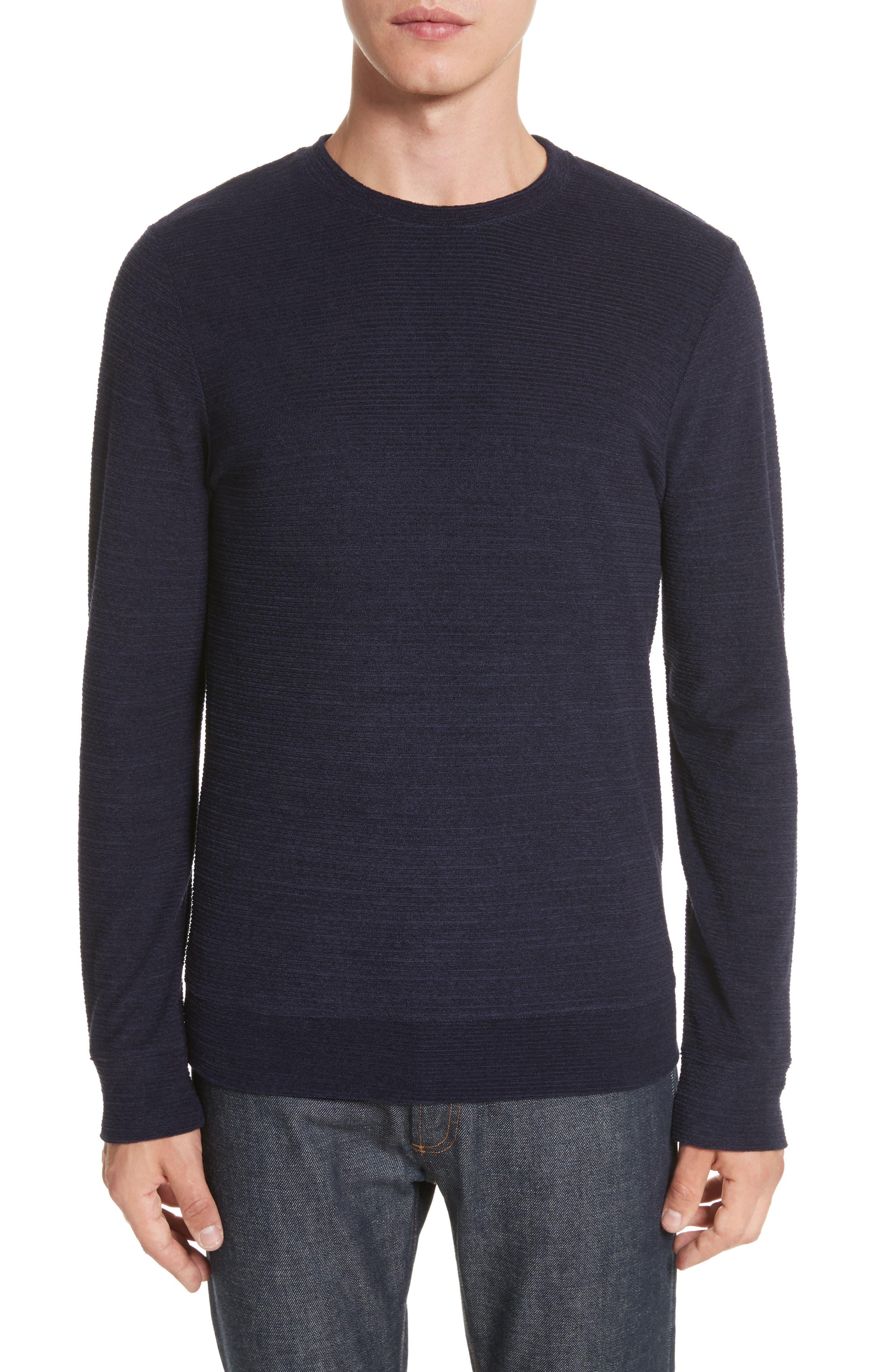 Jeremie Crewneck Sweater,                         Main,                         color, Marine