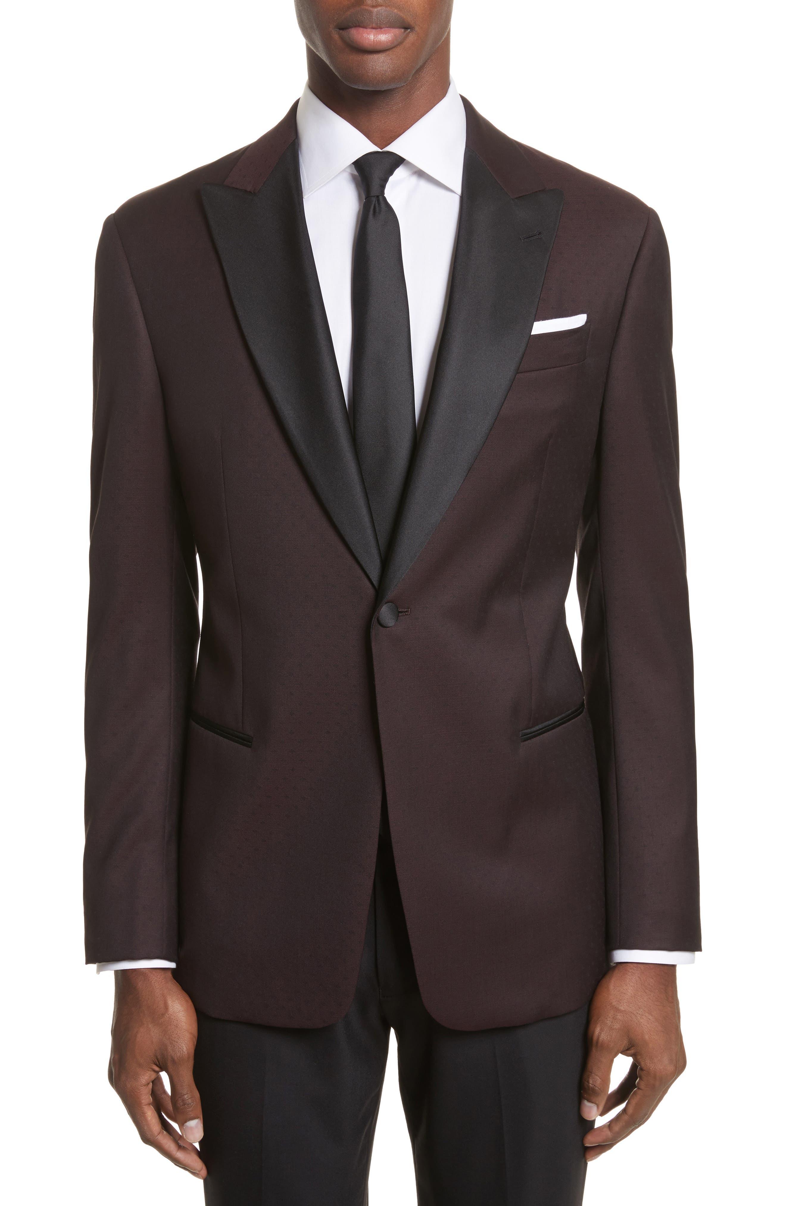 Main Image - Armani Collezioni Trim Fit Wool Dinner Jacket