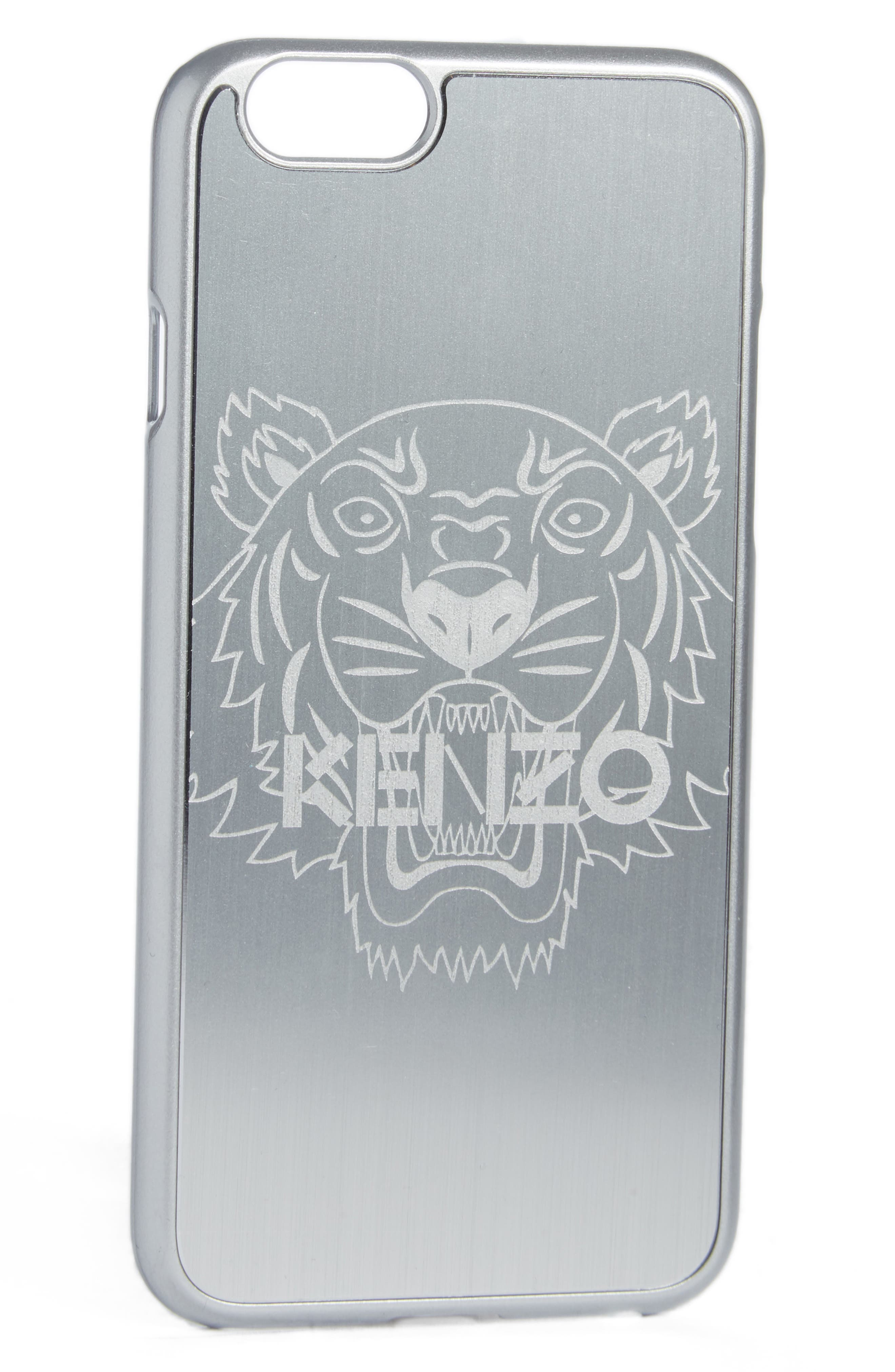 Tiger iPhone 7 Case,                             Main thumbnail 1, color,                             Silver
