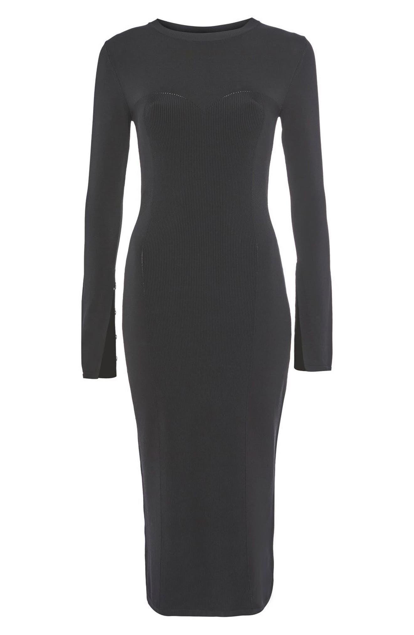 Main Image - Topshop Pointelle Midi Dress