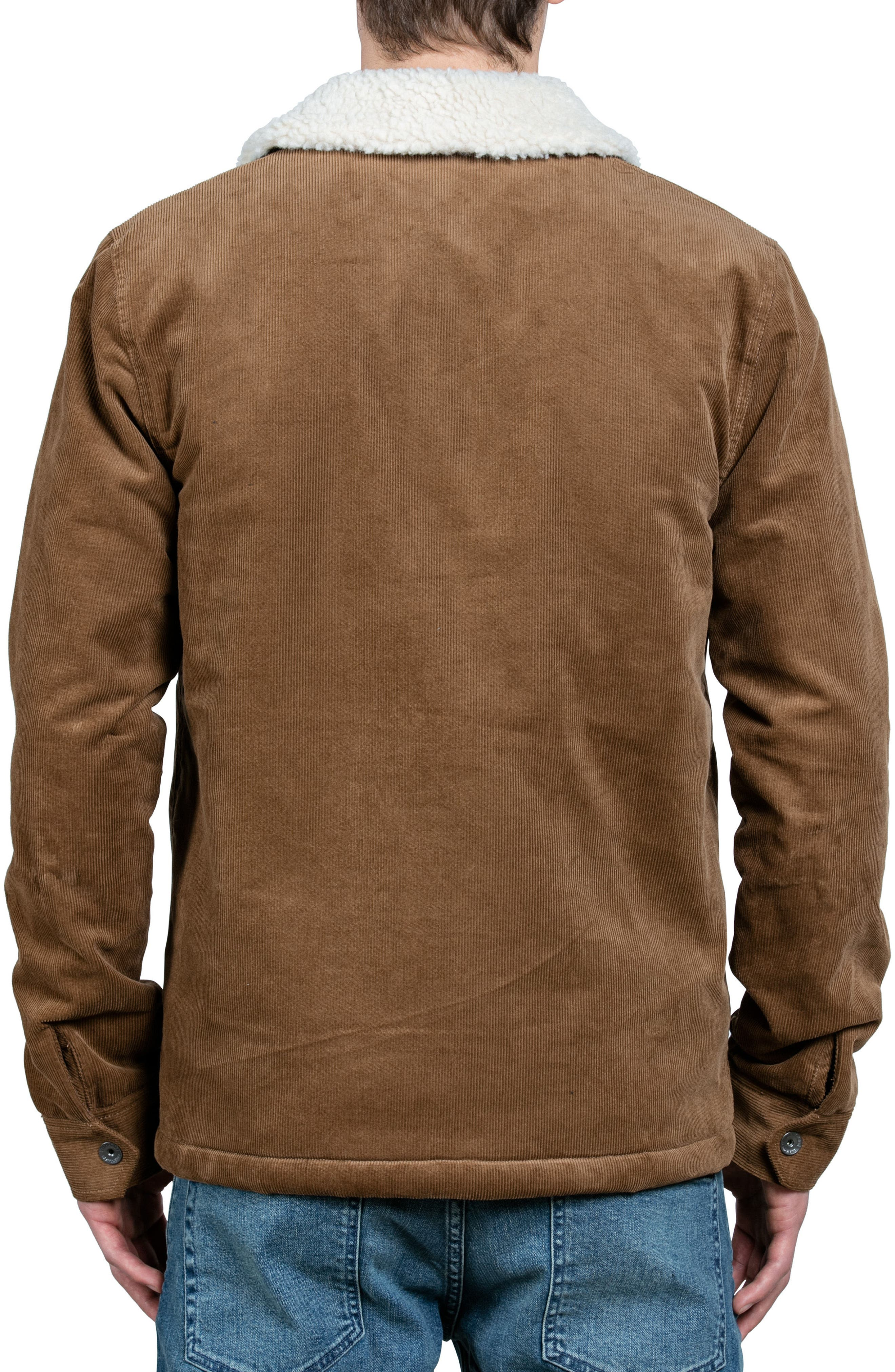 Keaton Jacket with Faux Shearling Trim,                             Alternate thumbnail 2, color,                             Brown