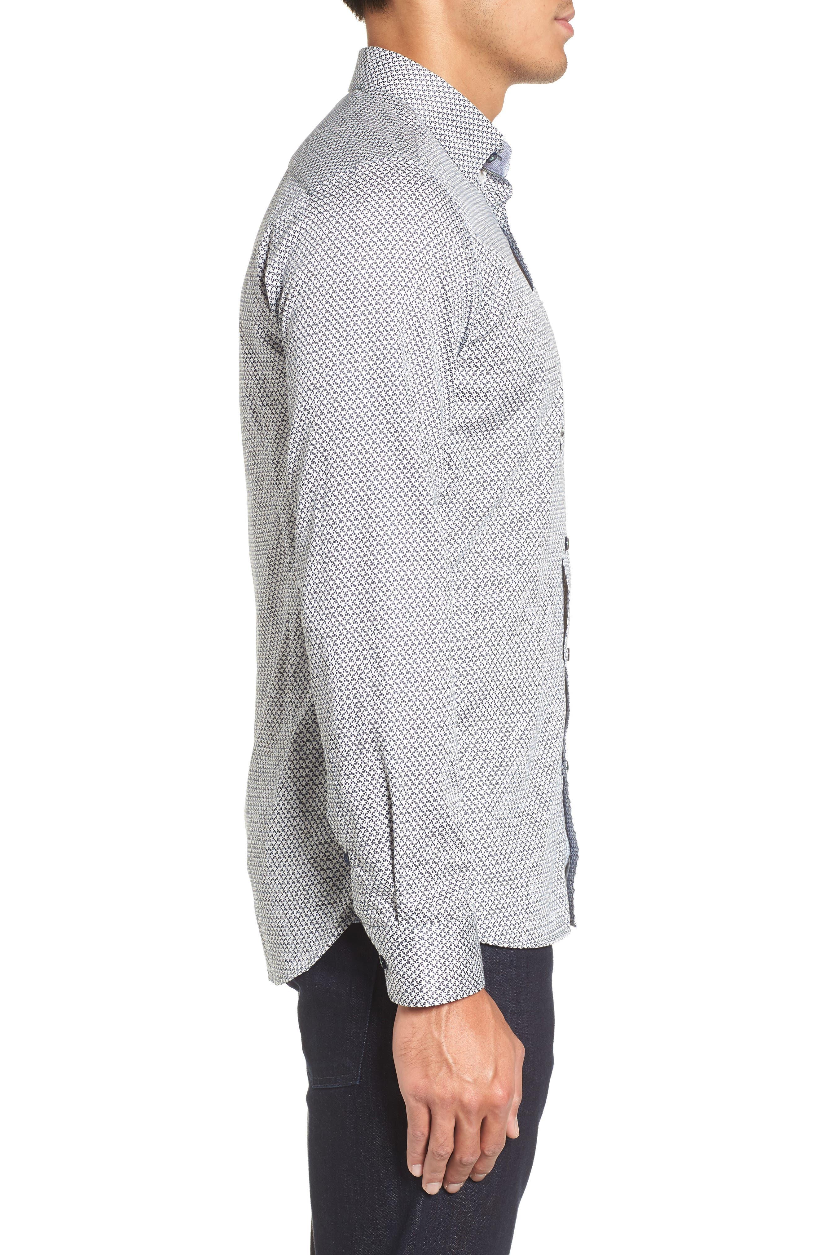 Alternate Image 3  - Ted Baker London Vilamor Extra Slim Fit Print Sport Shirt