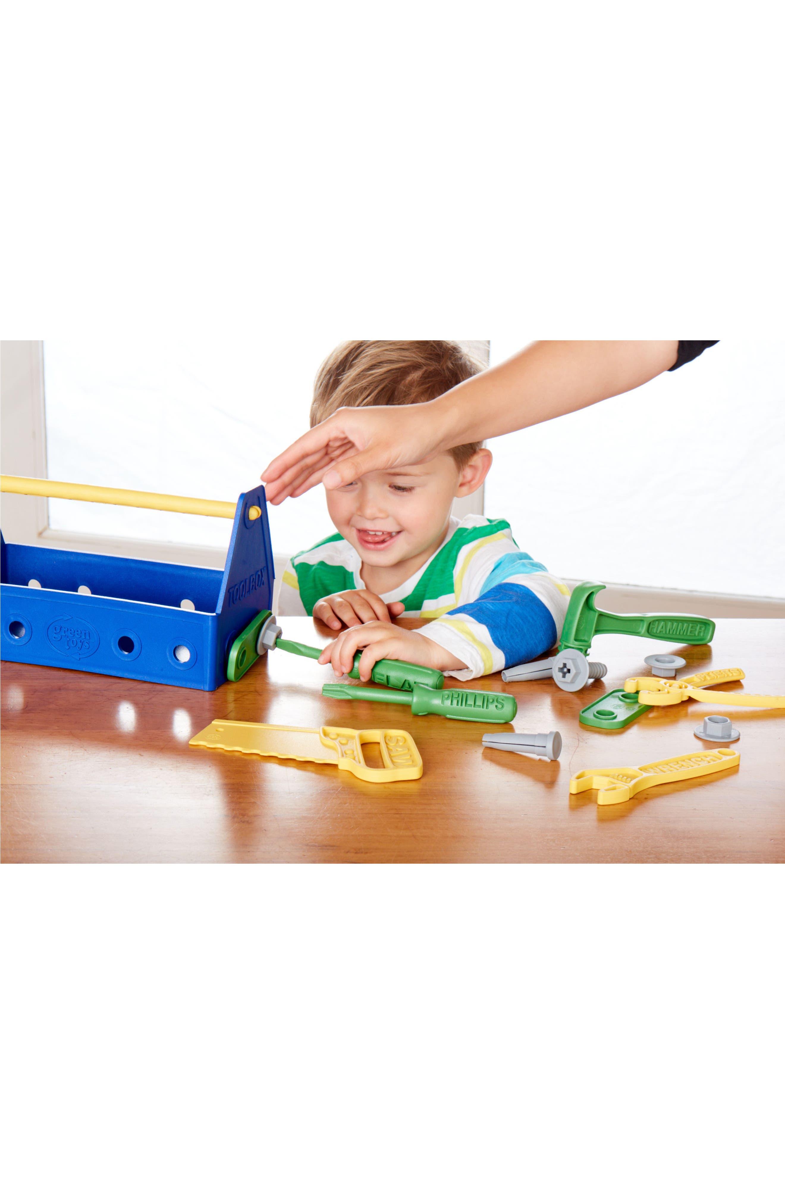 15-Piece Plastic Tool Set,                             Alternate thumbnail 4, color,                             Blue