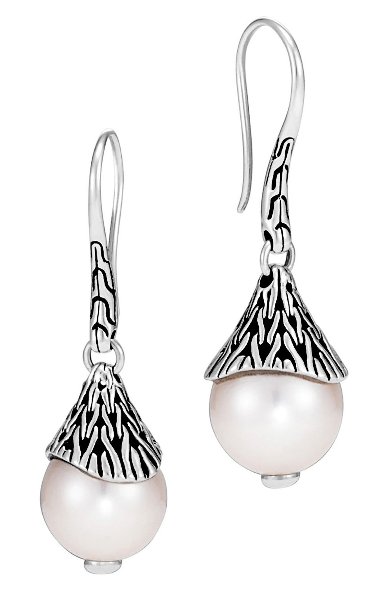 Classic Chain Drop Earrings,                             Main thumbnail 1, color,                             Silver