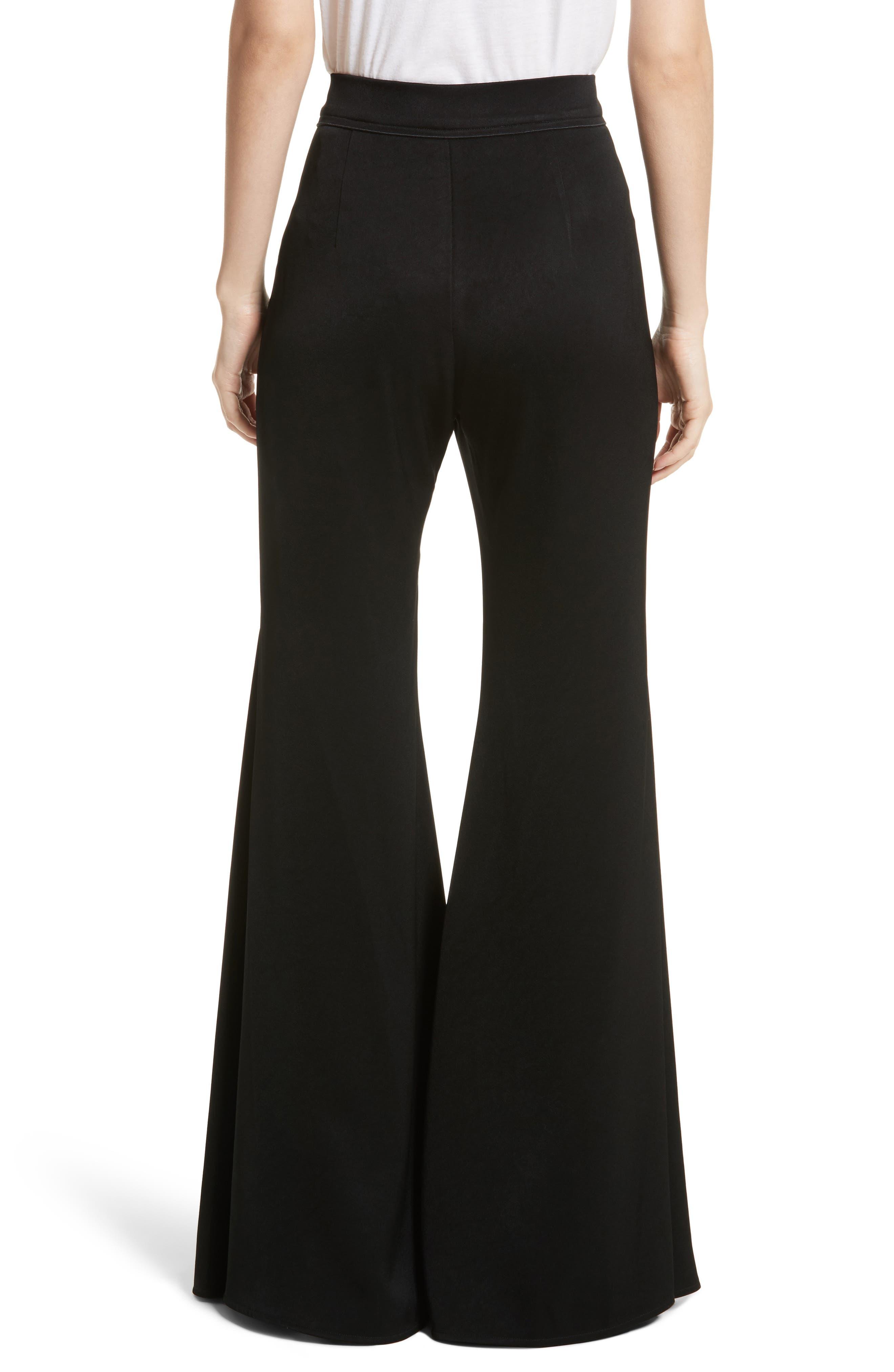 Higher & Higher Wide Flare Leg Pants,                             Alternate thumbnail 2, color,                             Black