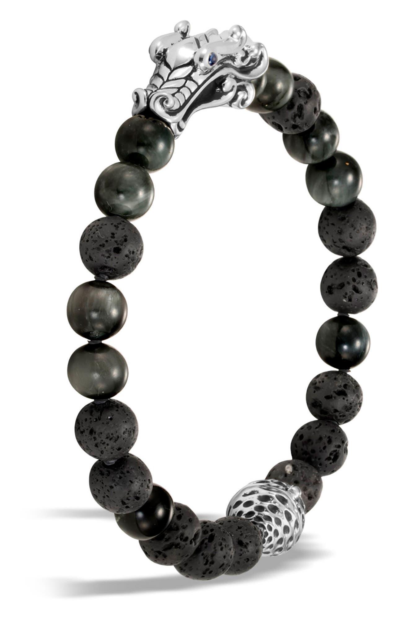 Legends Naga Bead Bracelet,                             Main thumbnail 1, color,                             Grey