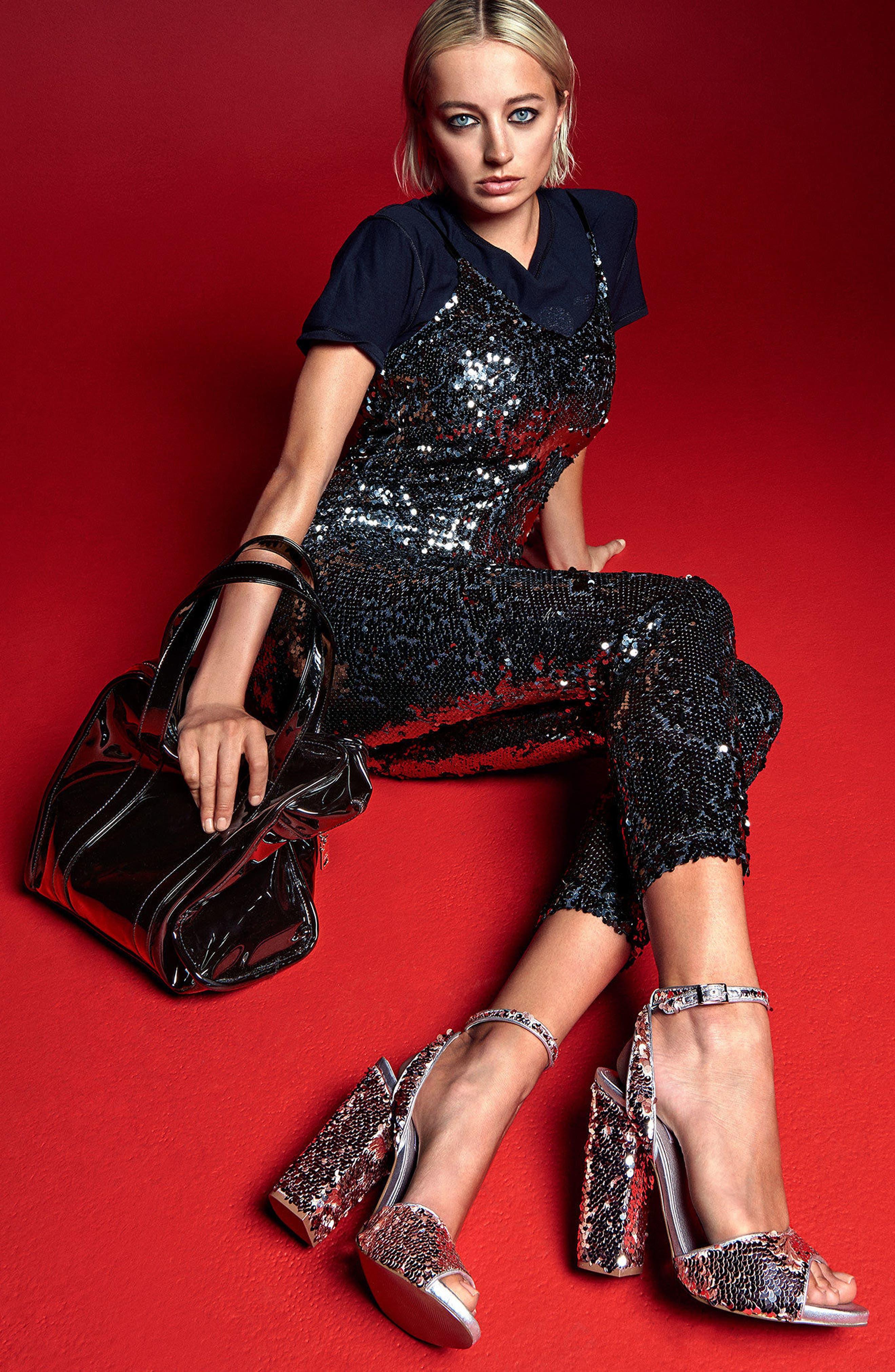 Alternate Image 8  - Steve Madden Ritzy Flip Sequin Sandal (Women)