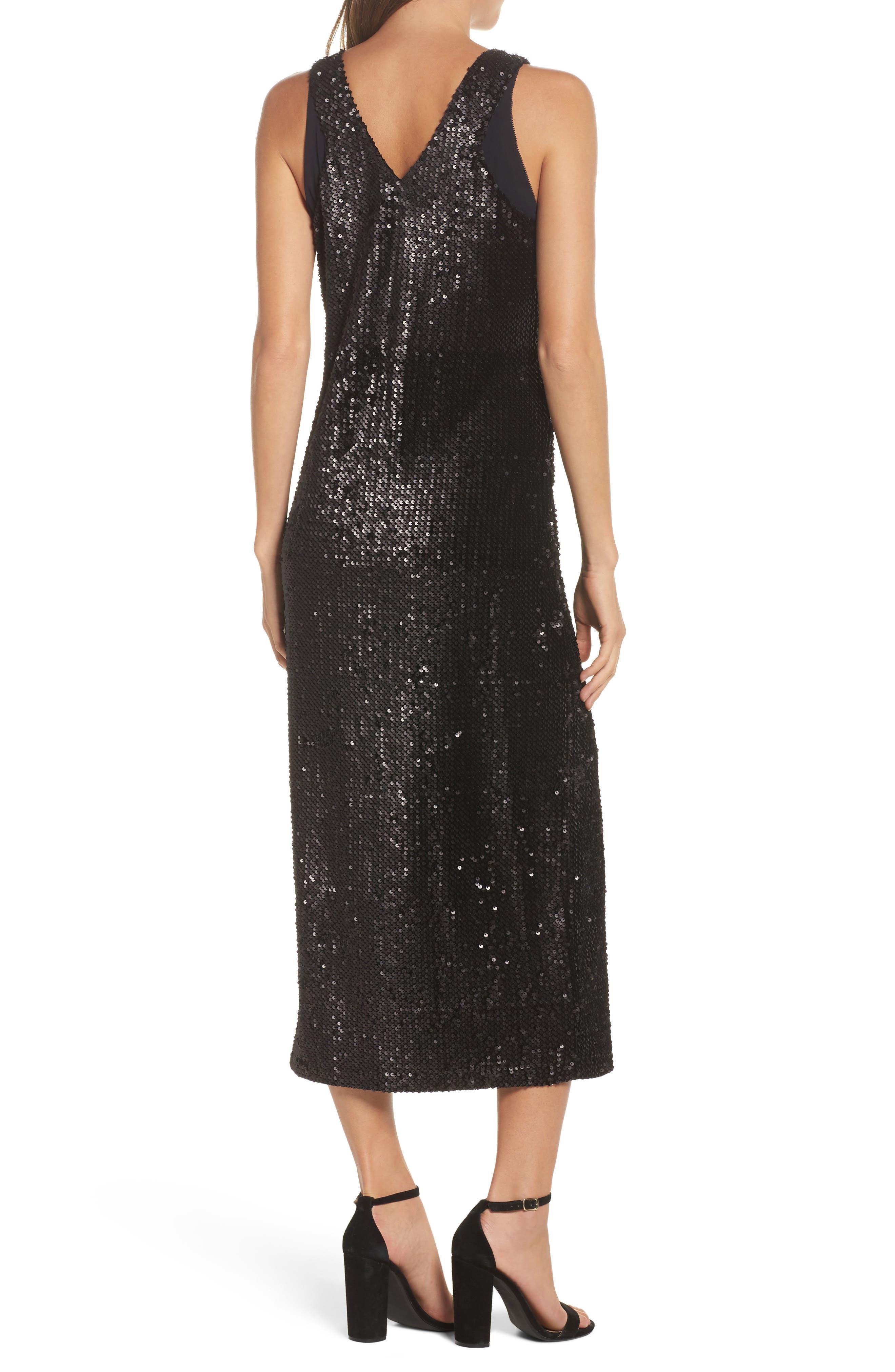 Alternate Image 2  - NIC+ZOE Night Shimmer Sequin Midi Dress
