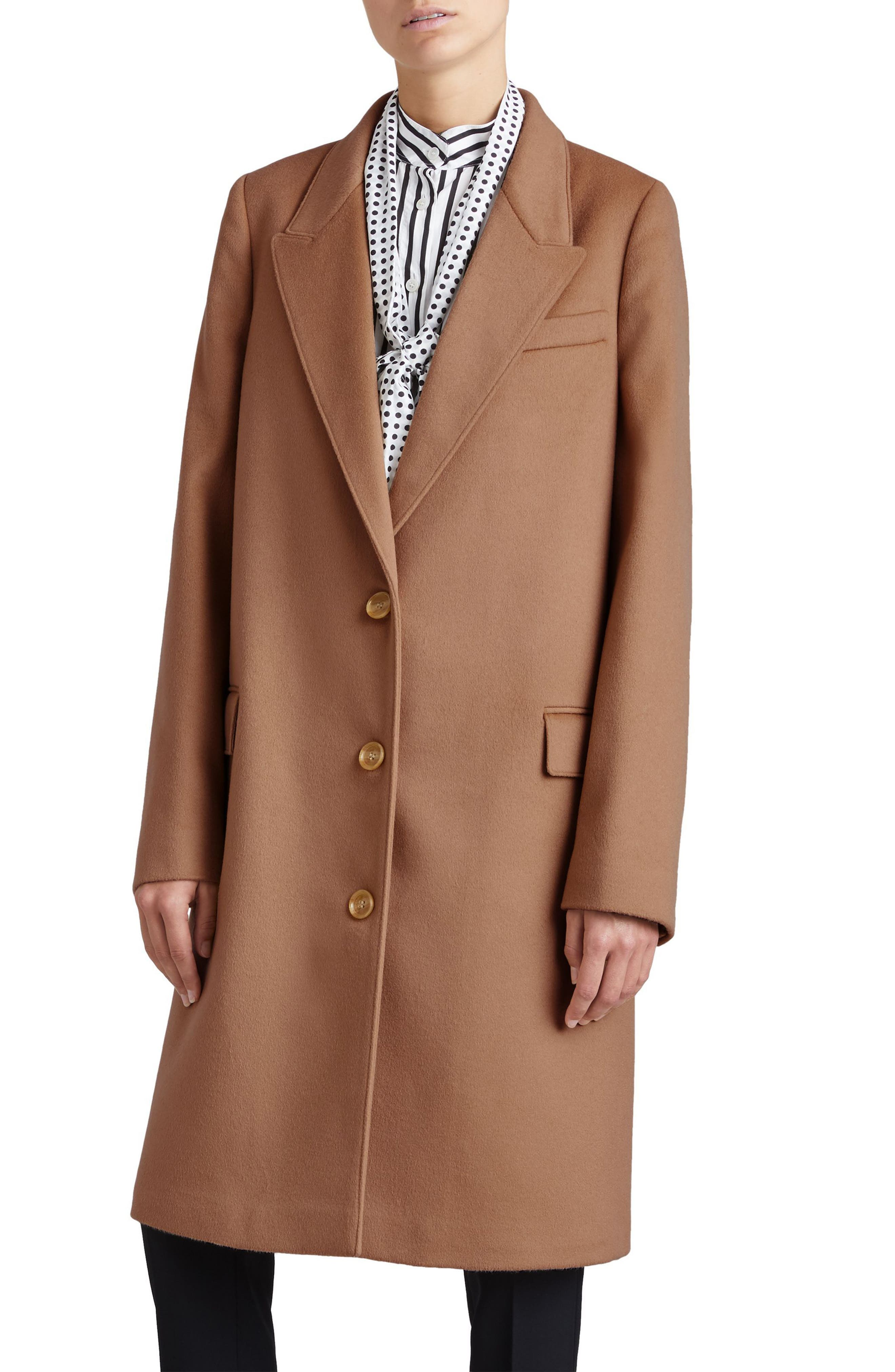 Fellhurst Wool & Cashmere Coat,                             Main thumbnail 1, color,                             Camel