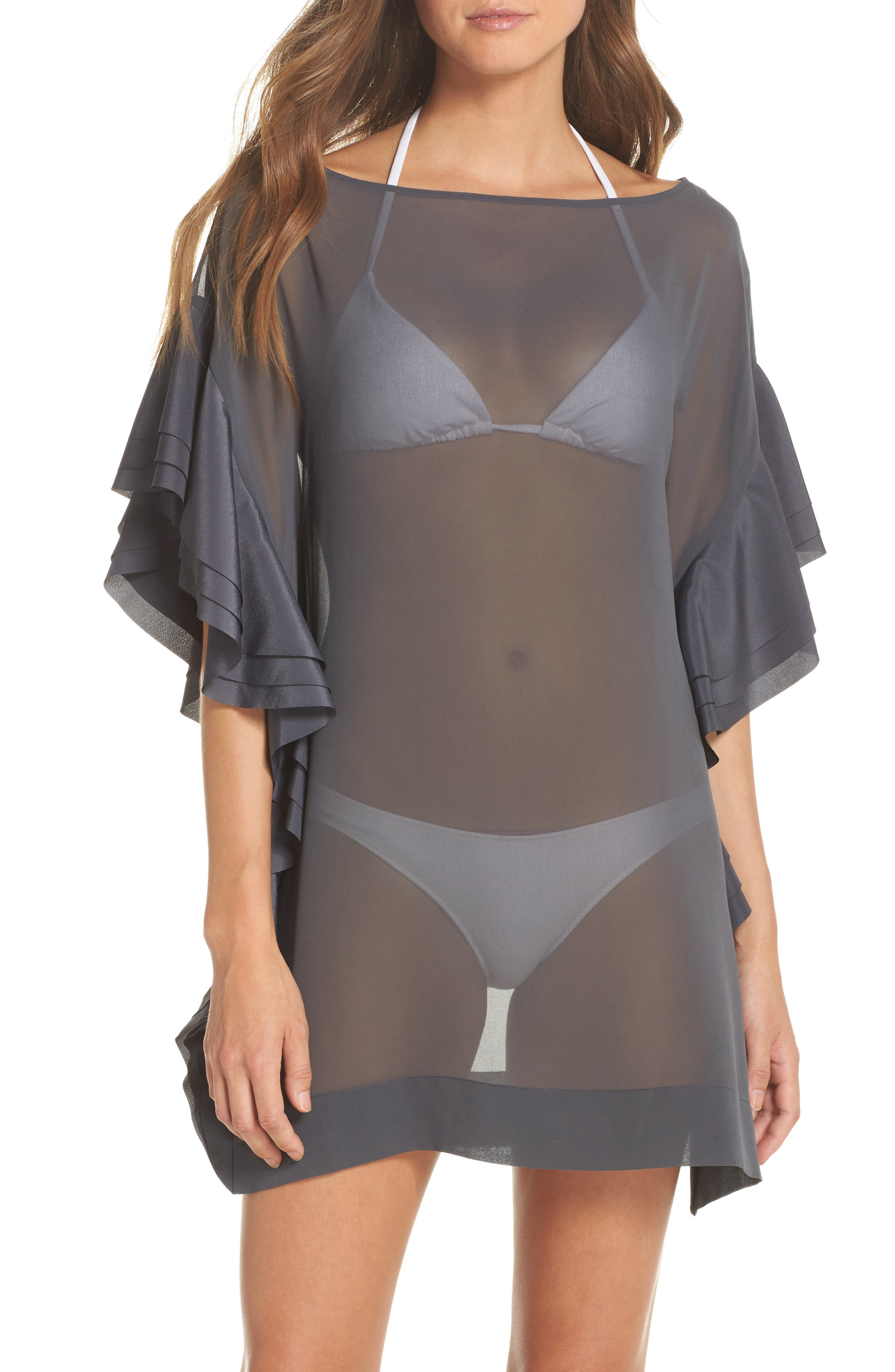 Alternate Image 1 Selected - Ted Baker London Ruffle Square Cover-Up Dress