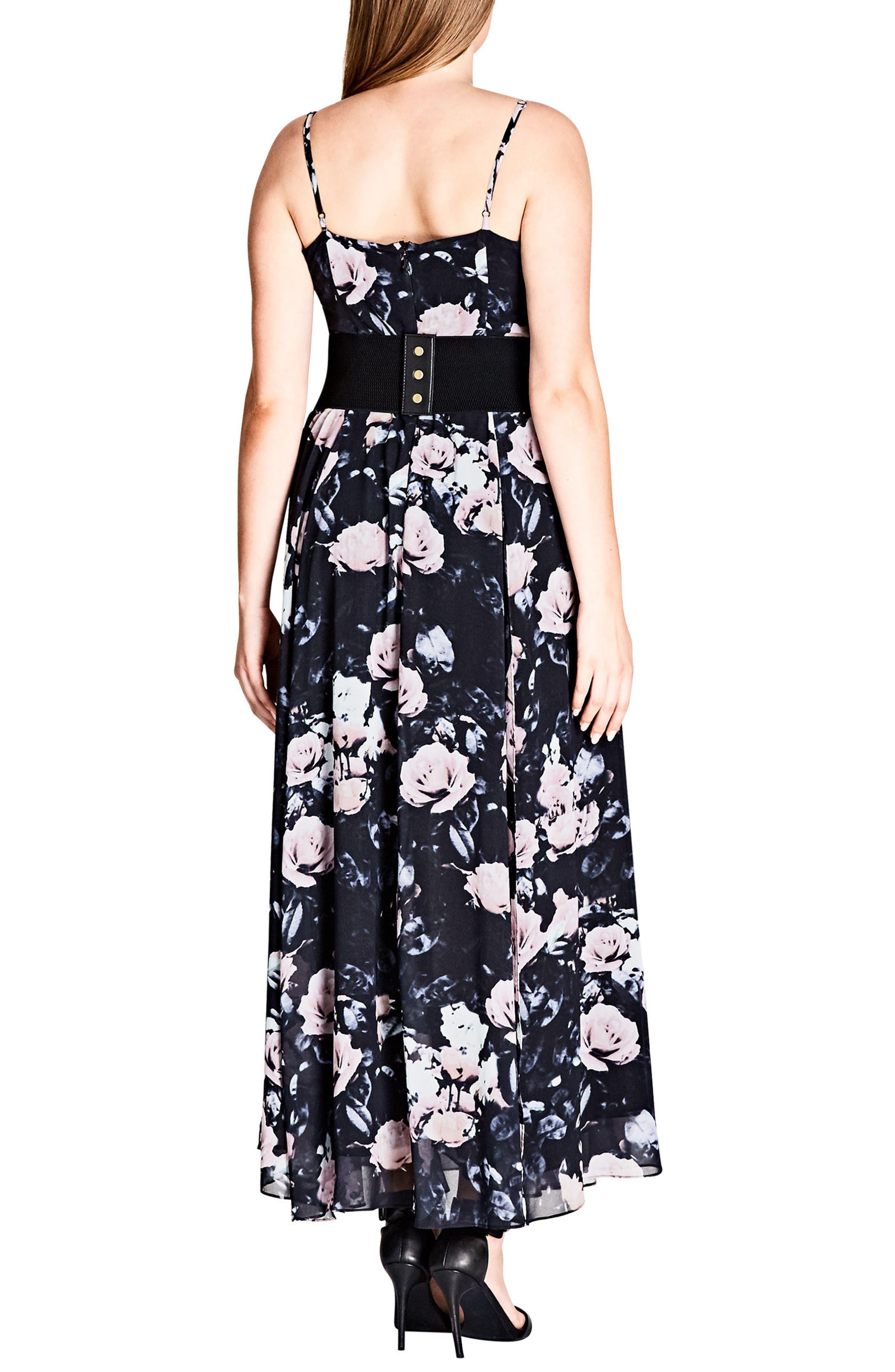 Rose Romance Maxi Dress,                             Alternate thumbnail 2, color,                             Rose Romance