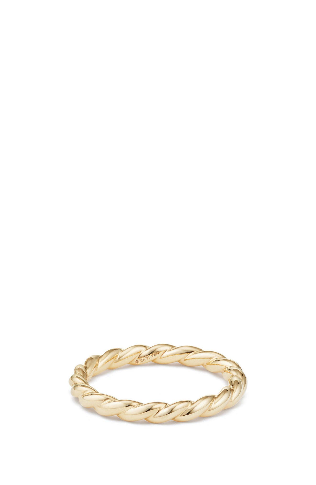 David Yurman , 2.7mm Paveflex Ring in 18K Gold