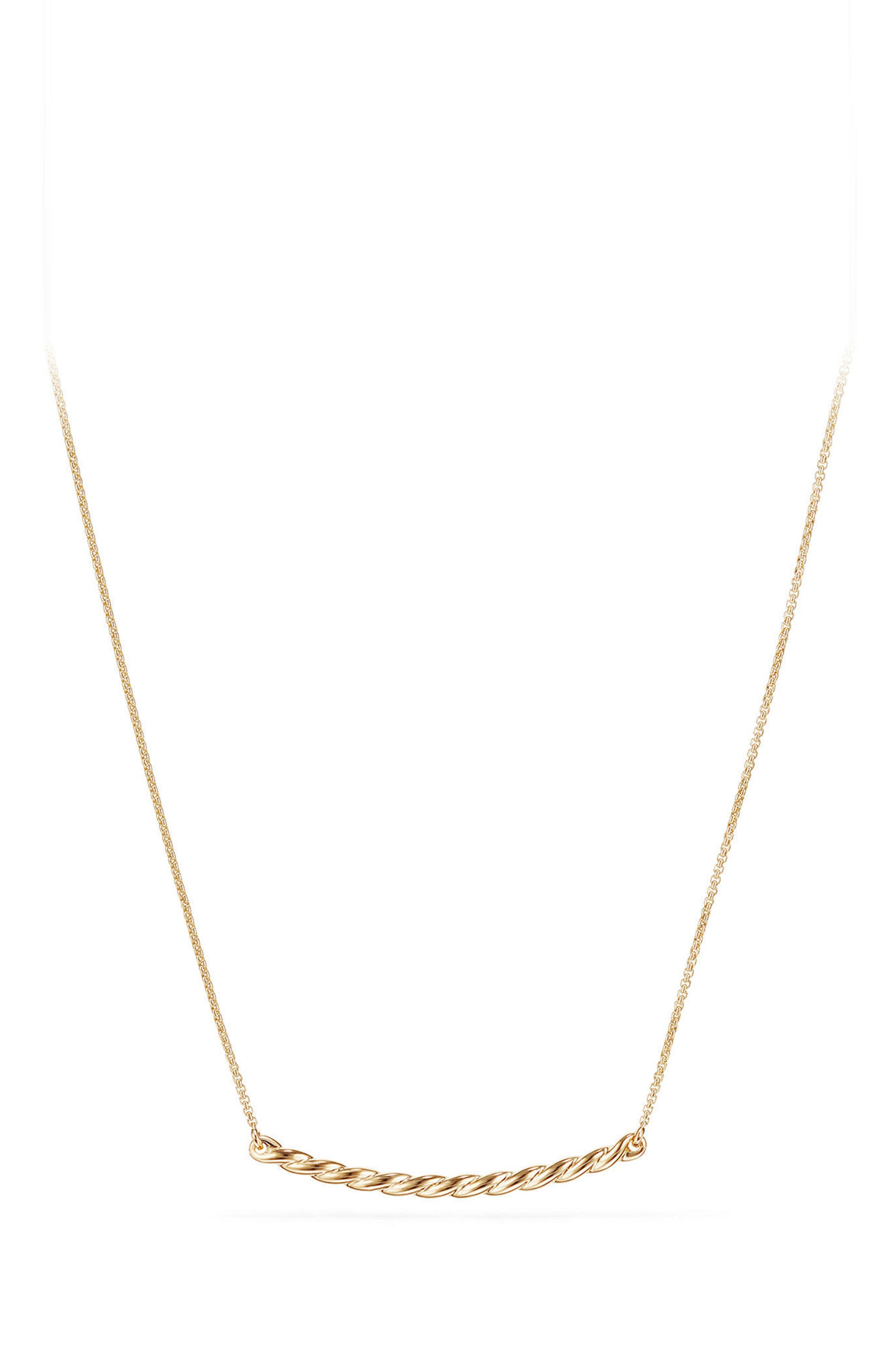 David Yurman Paveflex Station Necklace in 18K Gold