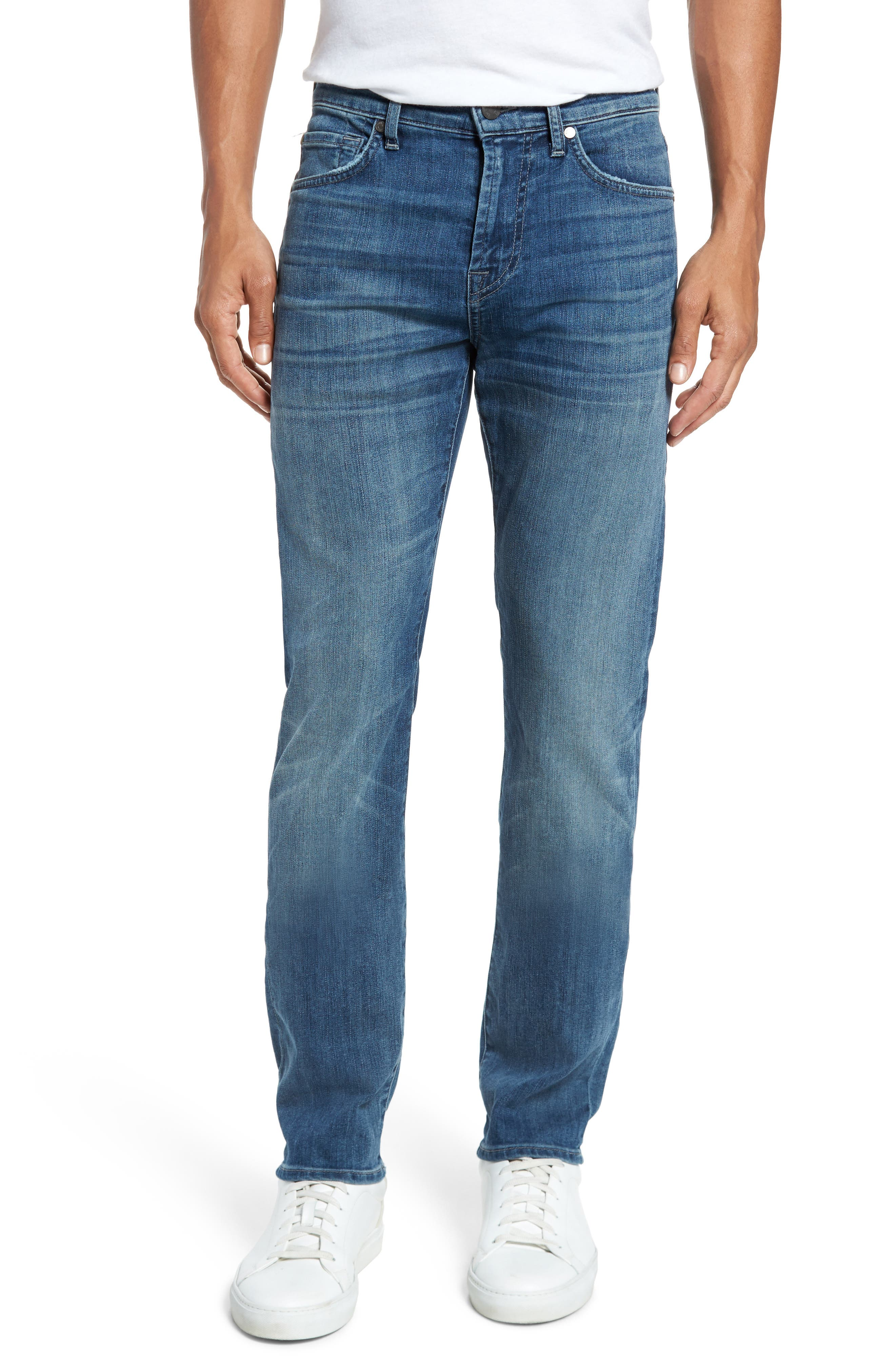 Main Image - 7 For All Mankind® The Straight Slim Straight Leg Jeans (Flash)