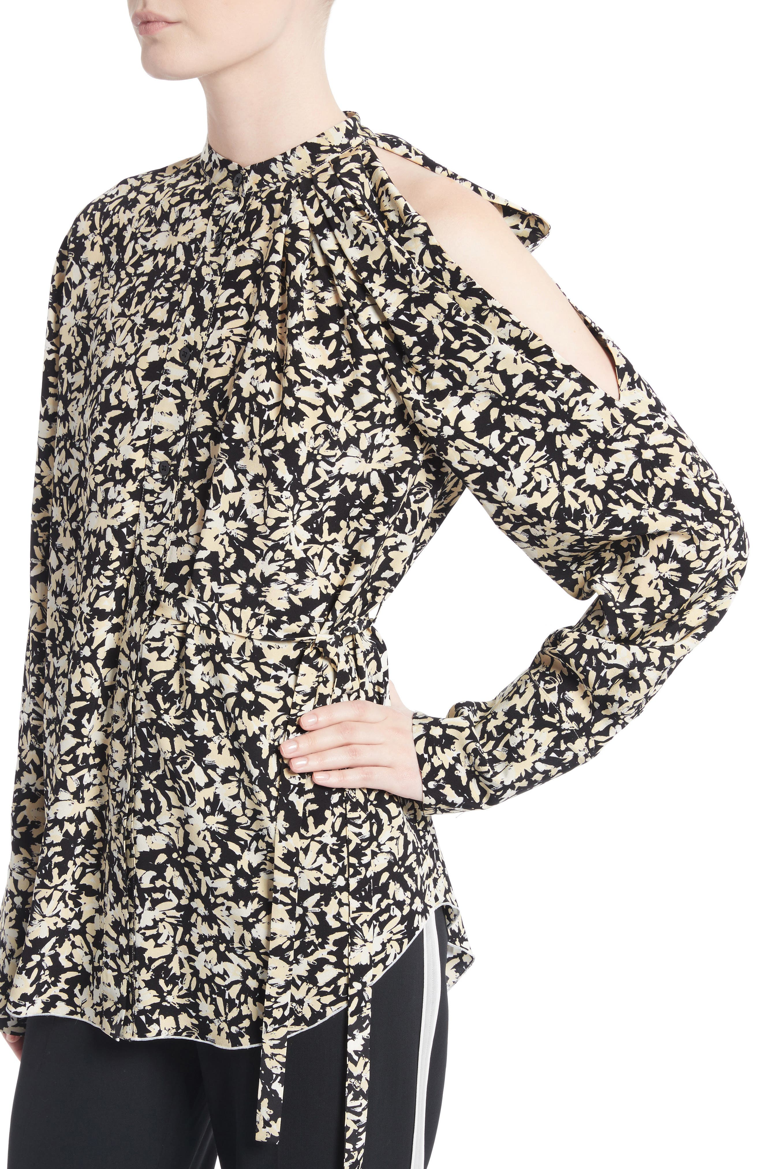 Alternate Image 4  - Proenza Schouler Print Silk Crepe Blouse