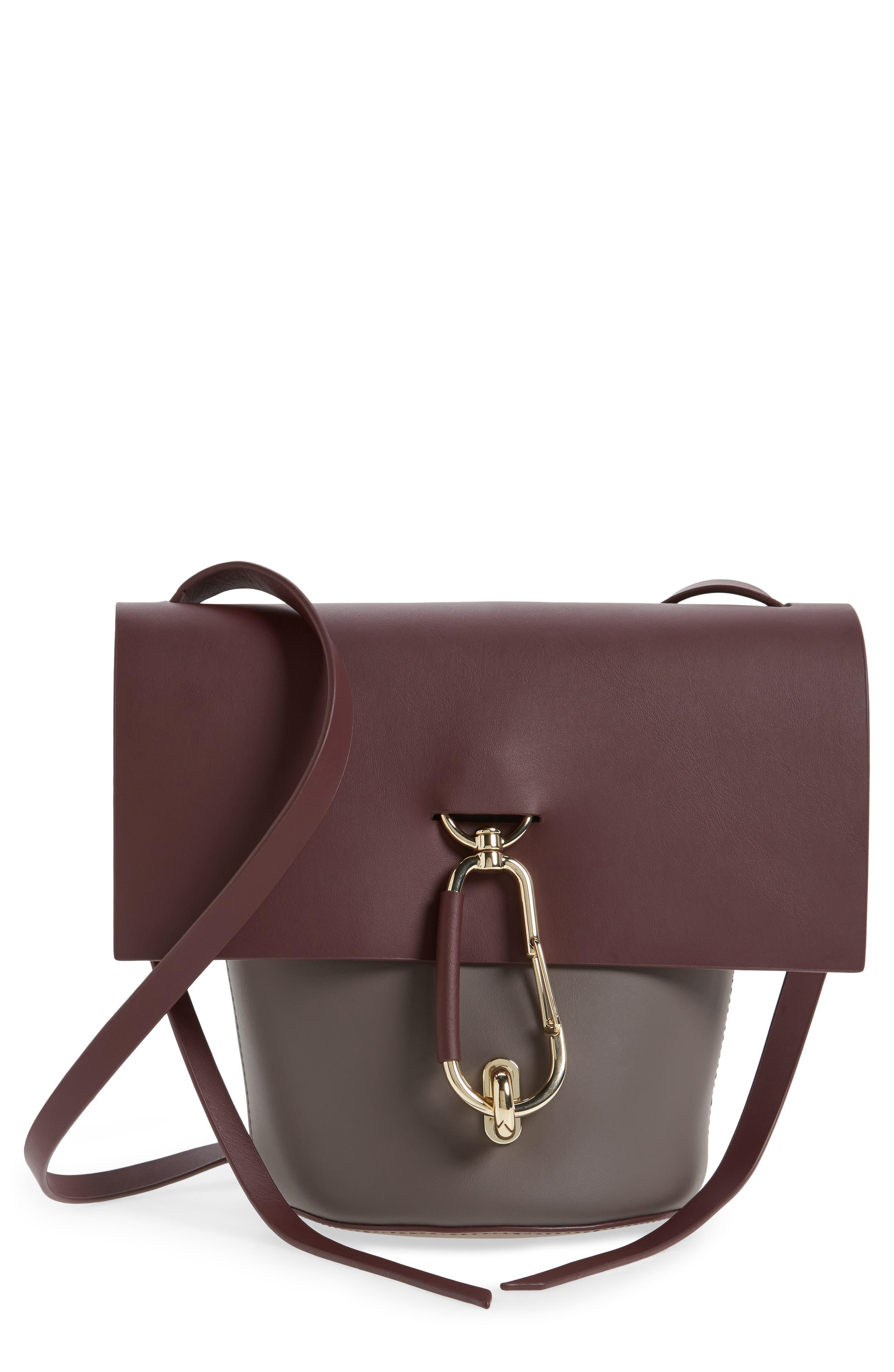 Alternate Image 1 Selected - ZAC Zac Posen Belay Colorblocked Leather Crossbody Bucket Bag