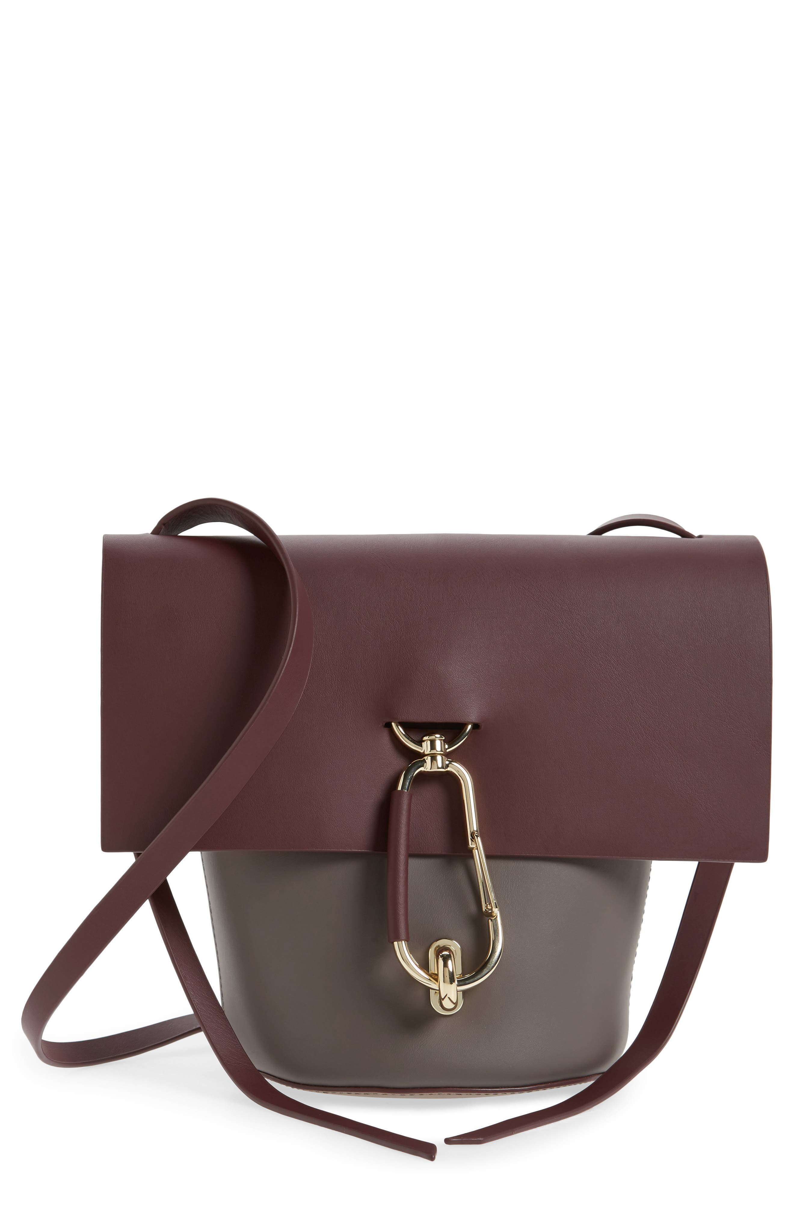 ZAC Zac Posen Belay Colorblocked Leather Crossbody Bucket Bag