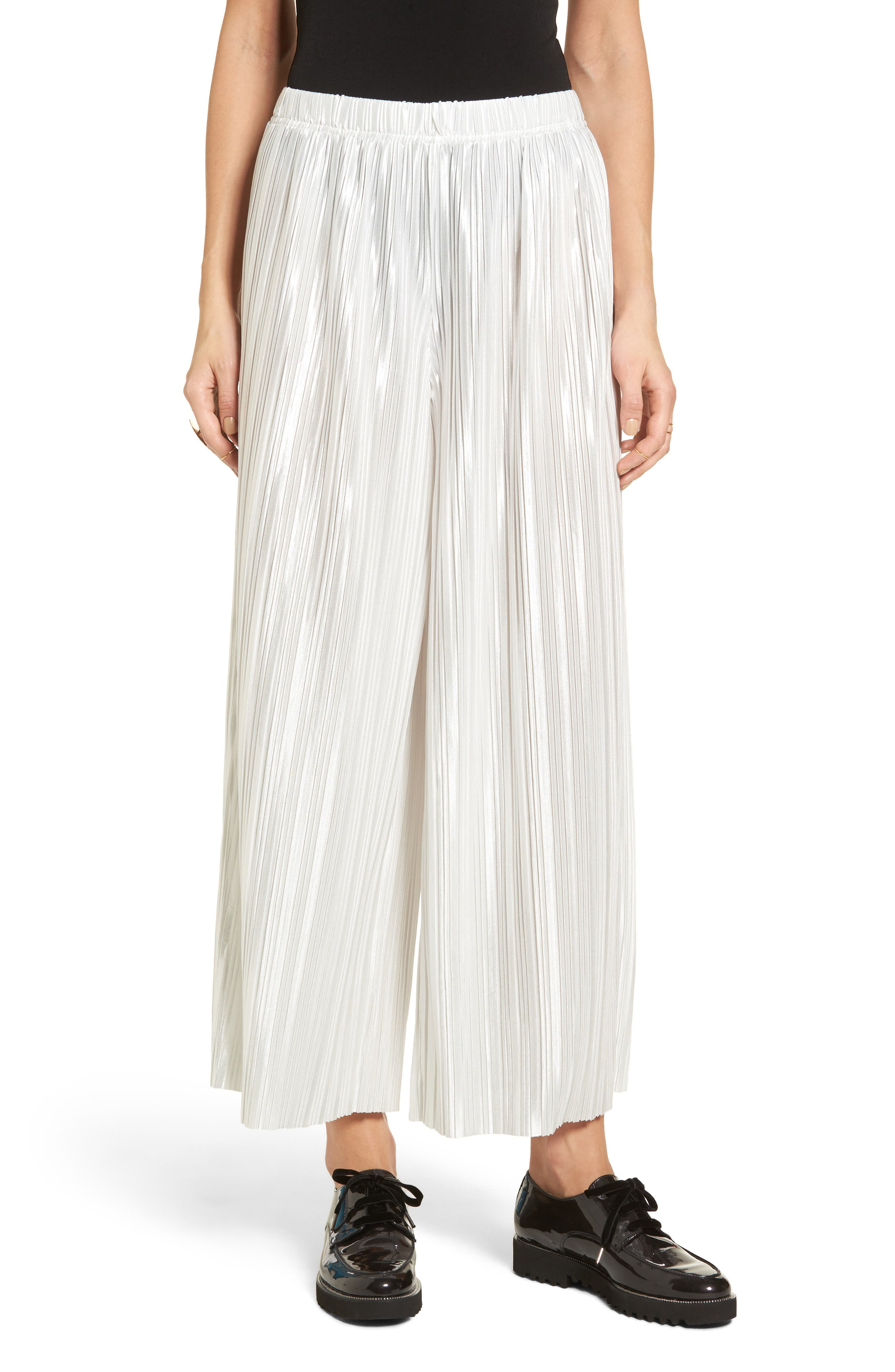 Main Image - Stone Row Just Pleat It Culottes