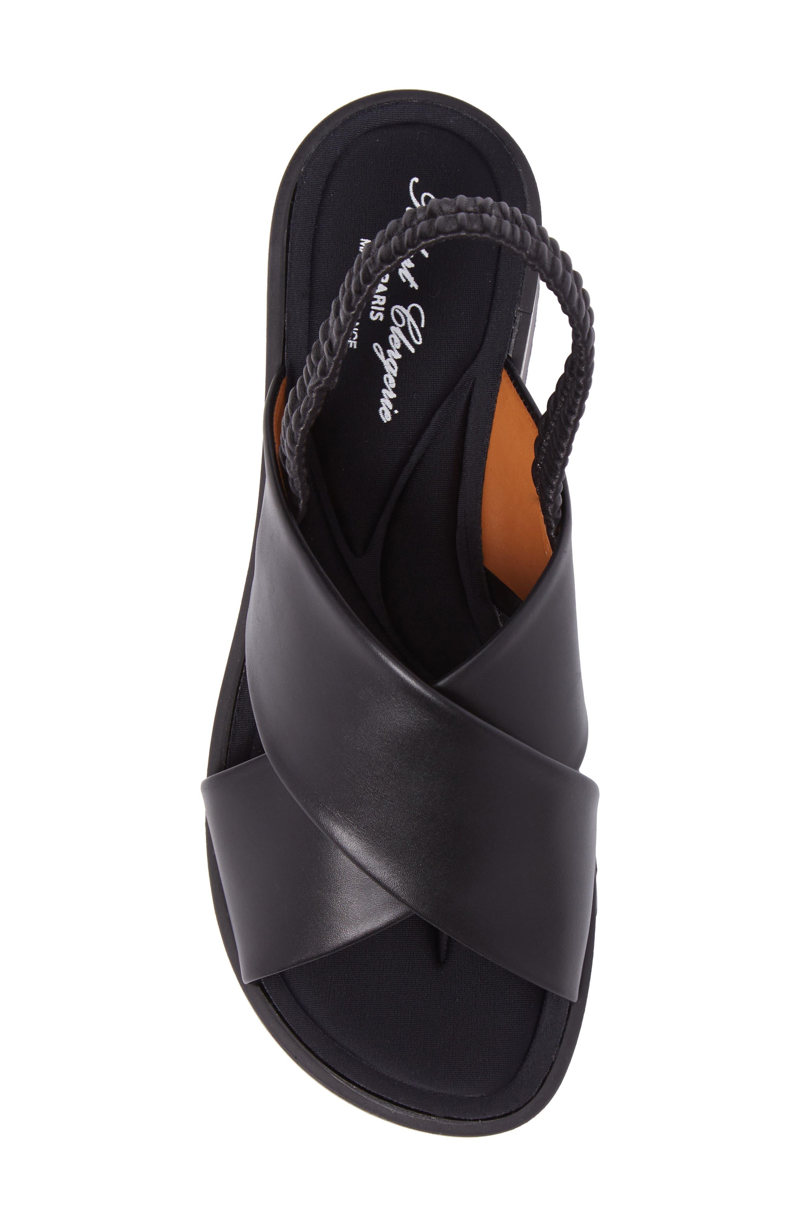 Omin Platform Slingback Sandal,                             Alternate thumbnail 5, color,                             Black