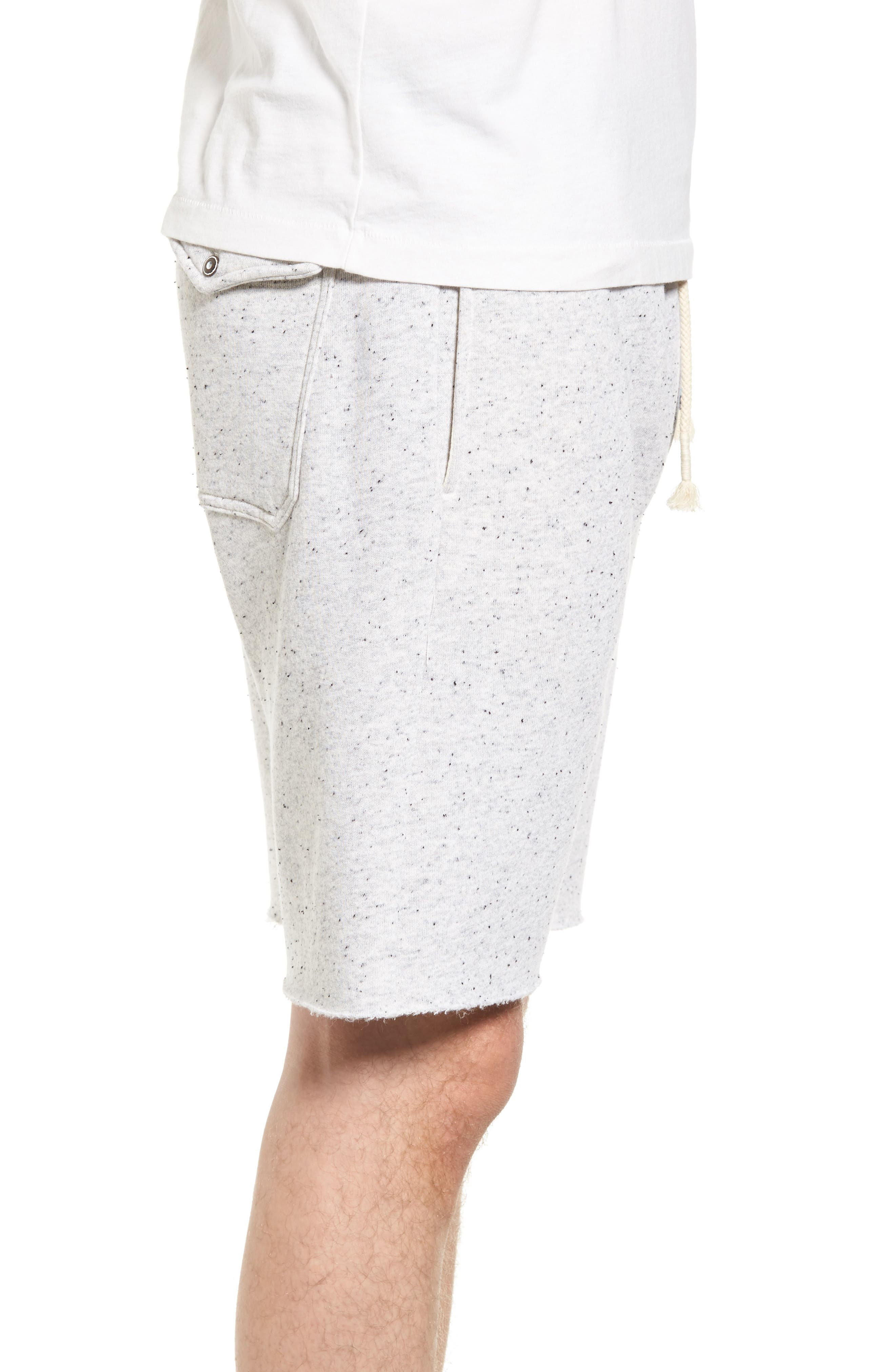 Peppered Shorts,                             Alternate thumbnail 3, color,                             Light Grey