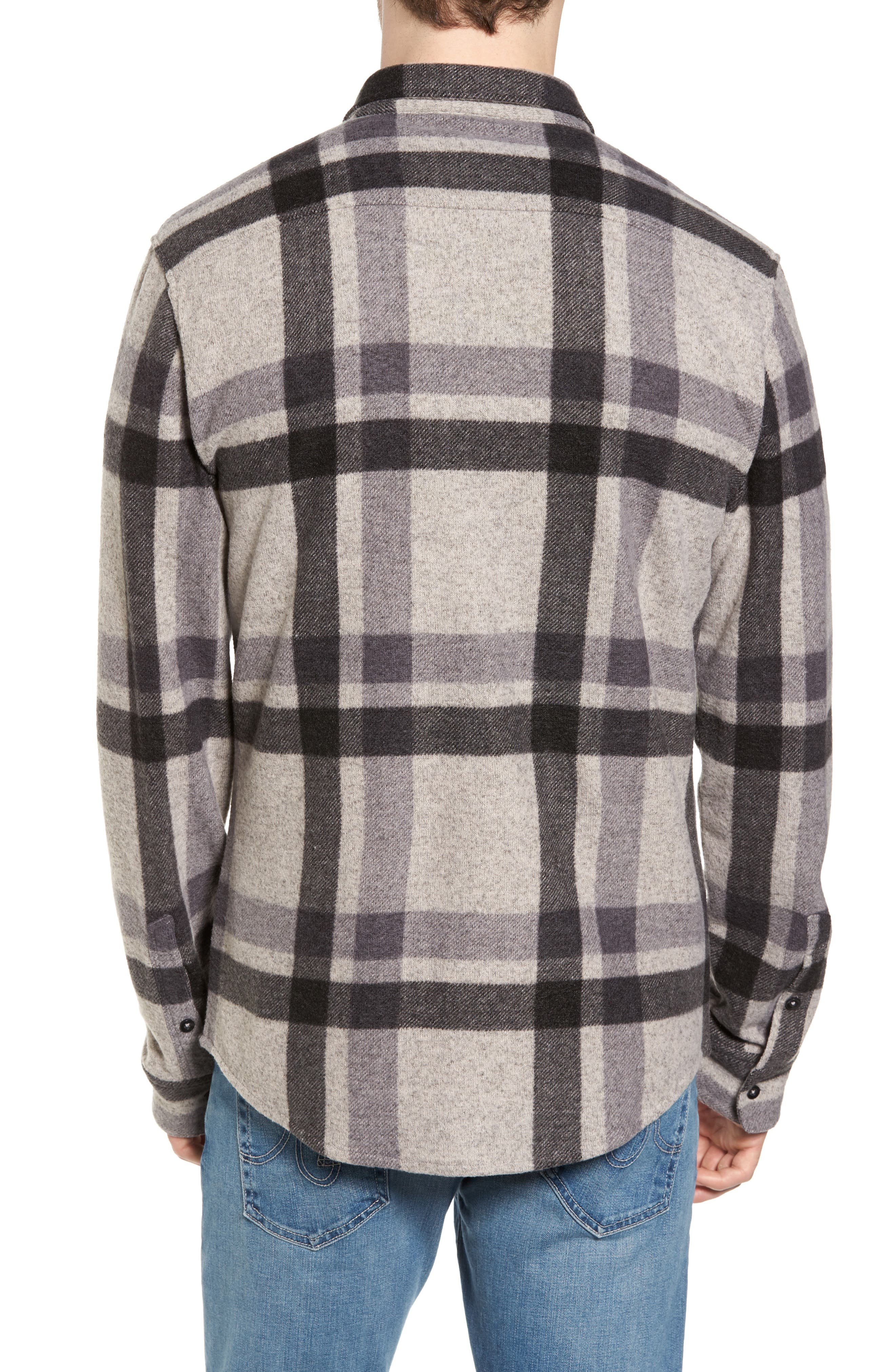 Plaid Shirt,                             Alternate thumbnail 2, color,                             Grey Charcoal Large Plaid