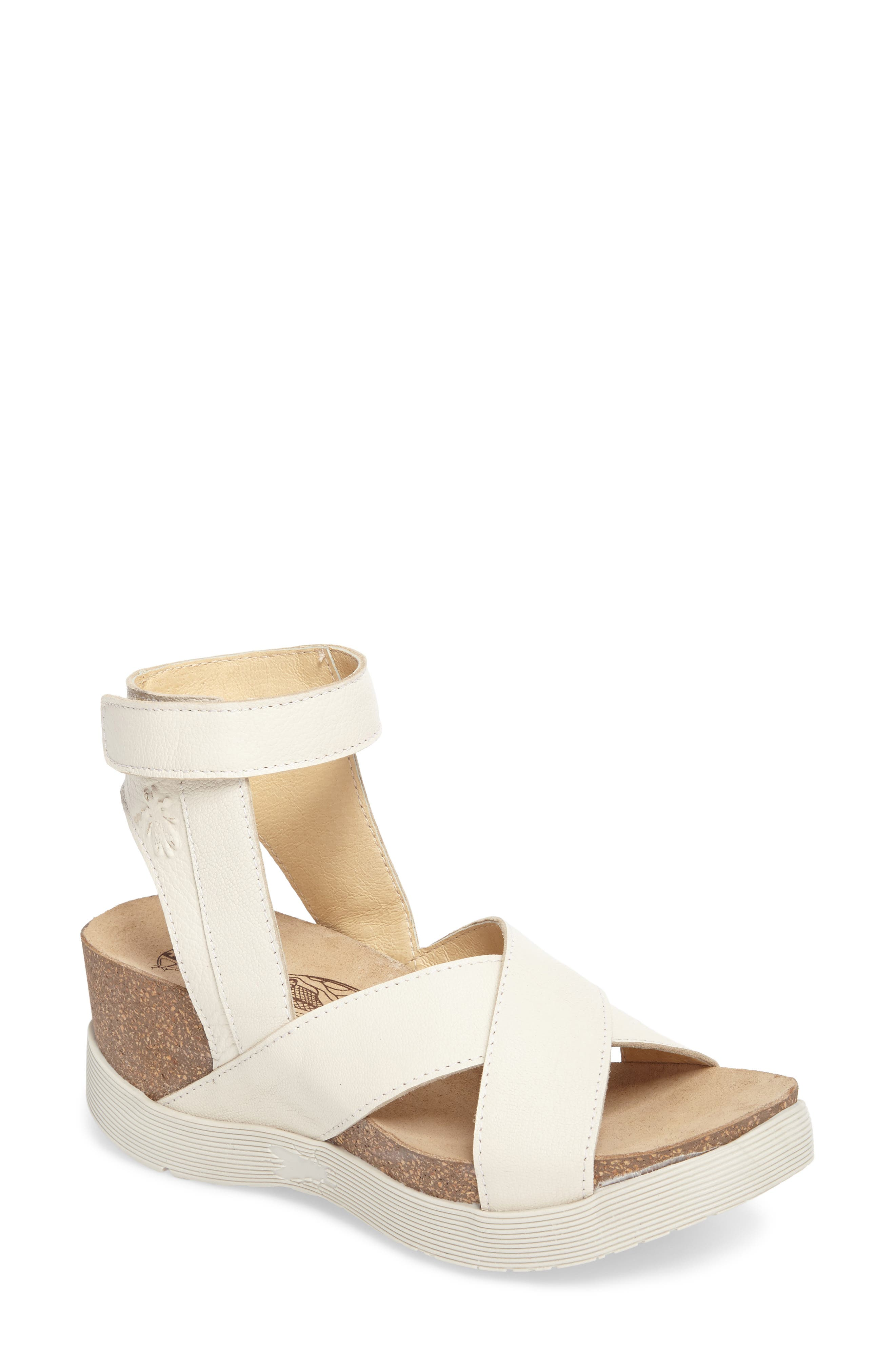 Fly London Weel Nubuck Leather Platform Sandal (Women)