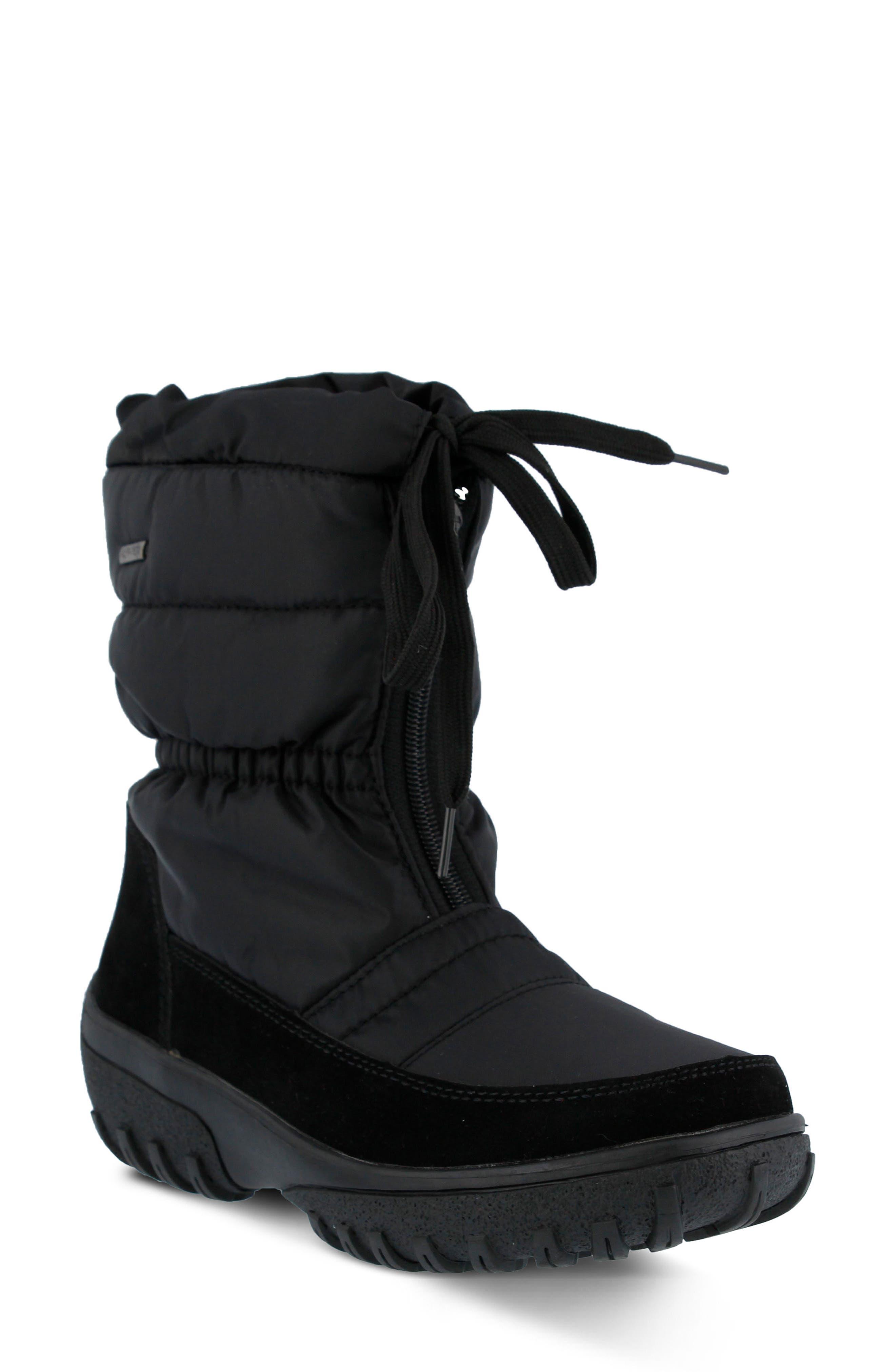 Lucerne Waterproof Drawstring Boot,                             Main thumbnail 1, color,                             Black