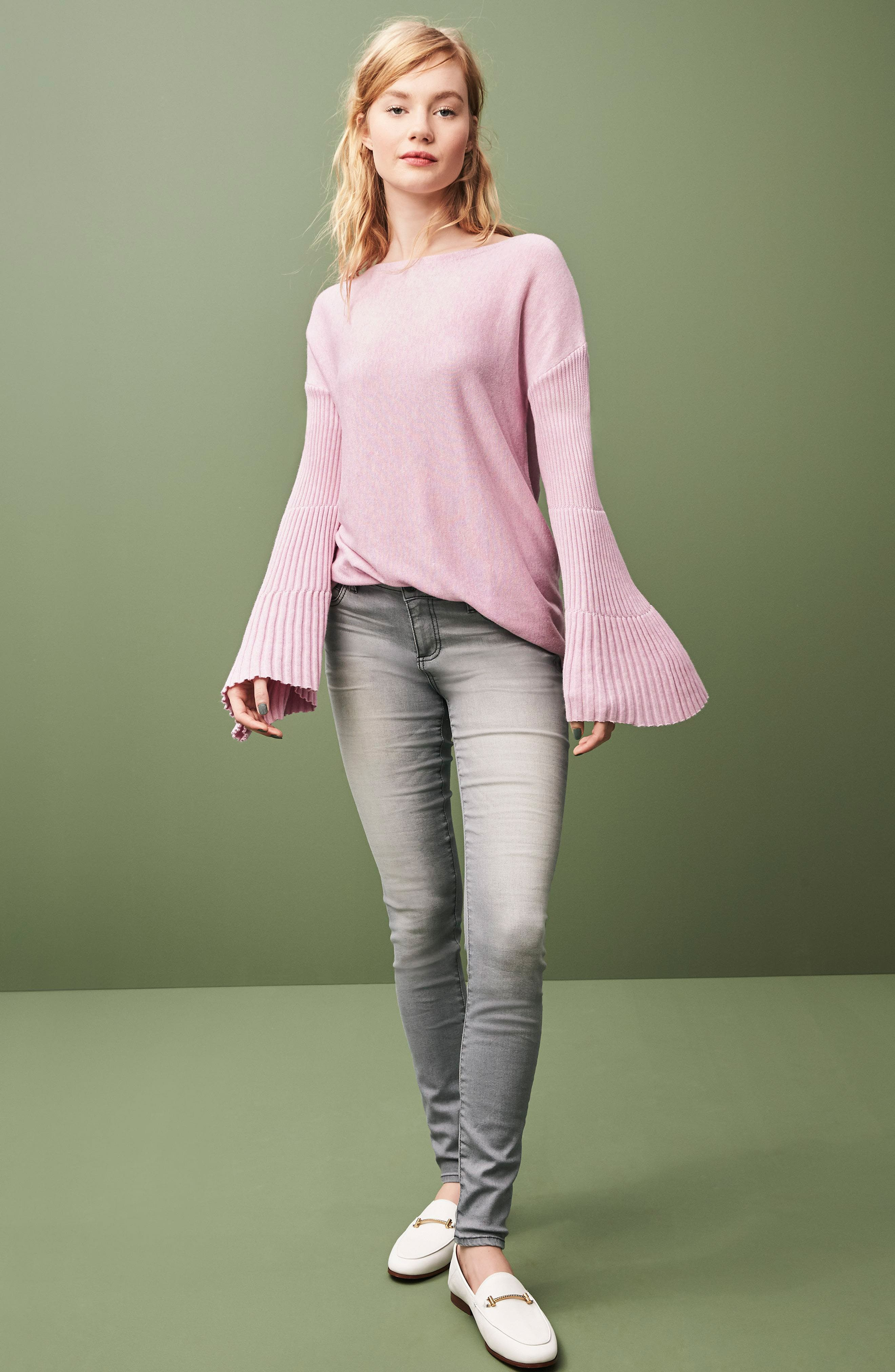 Alternate Image 7  - Vince Camuto Ribbed Bell Sleeve Sweater (Plus Size)