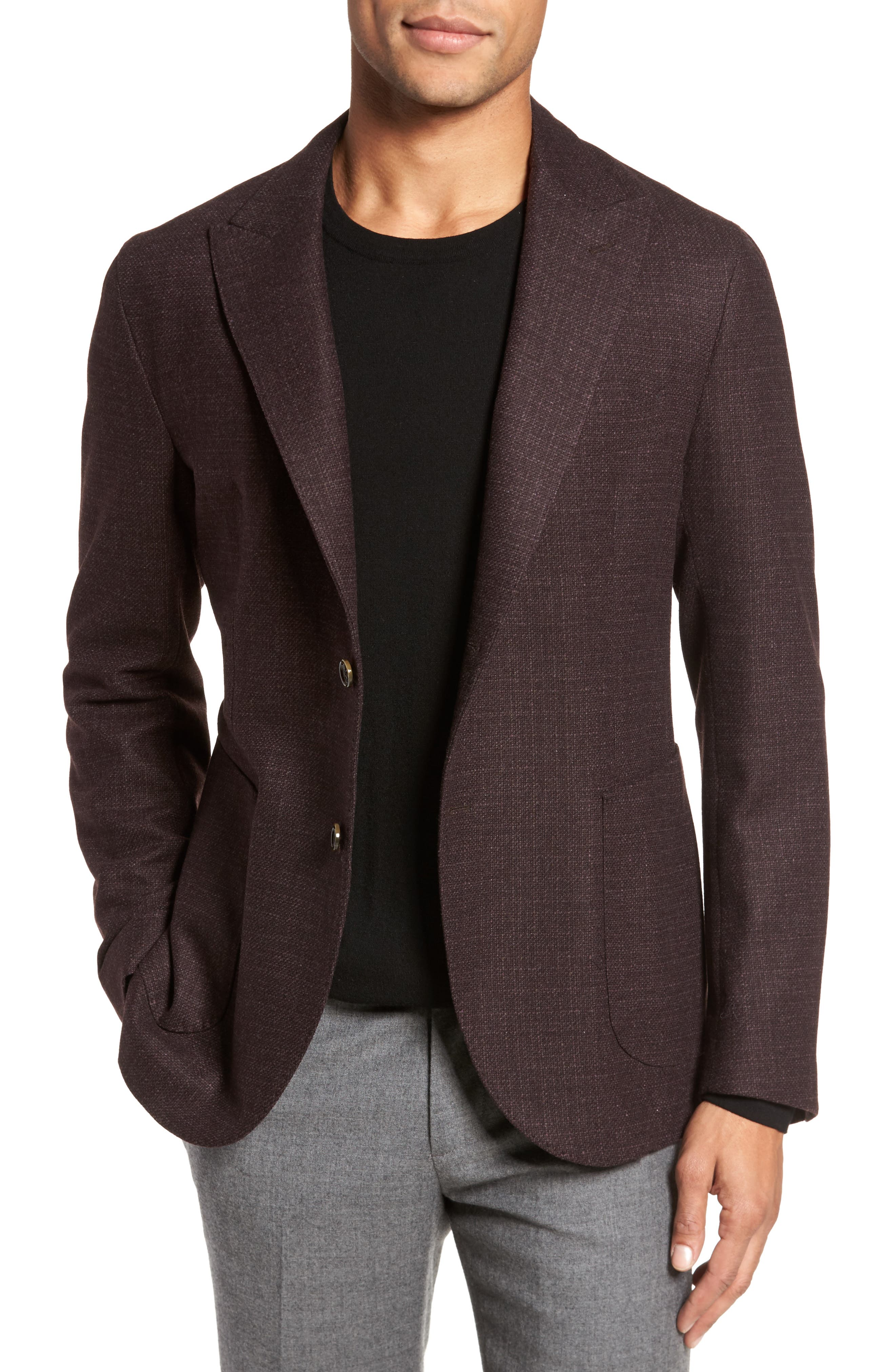 Eleventy Classic Fit Wool & Cashmere Blazer