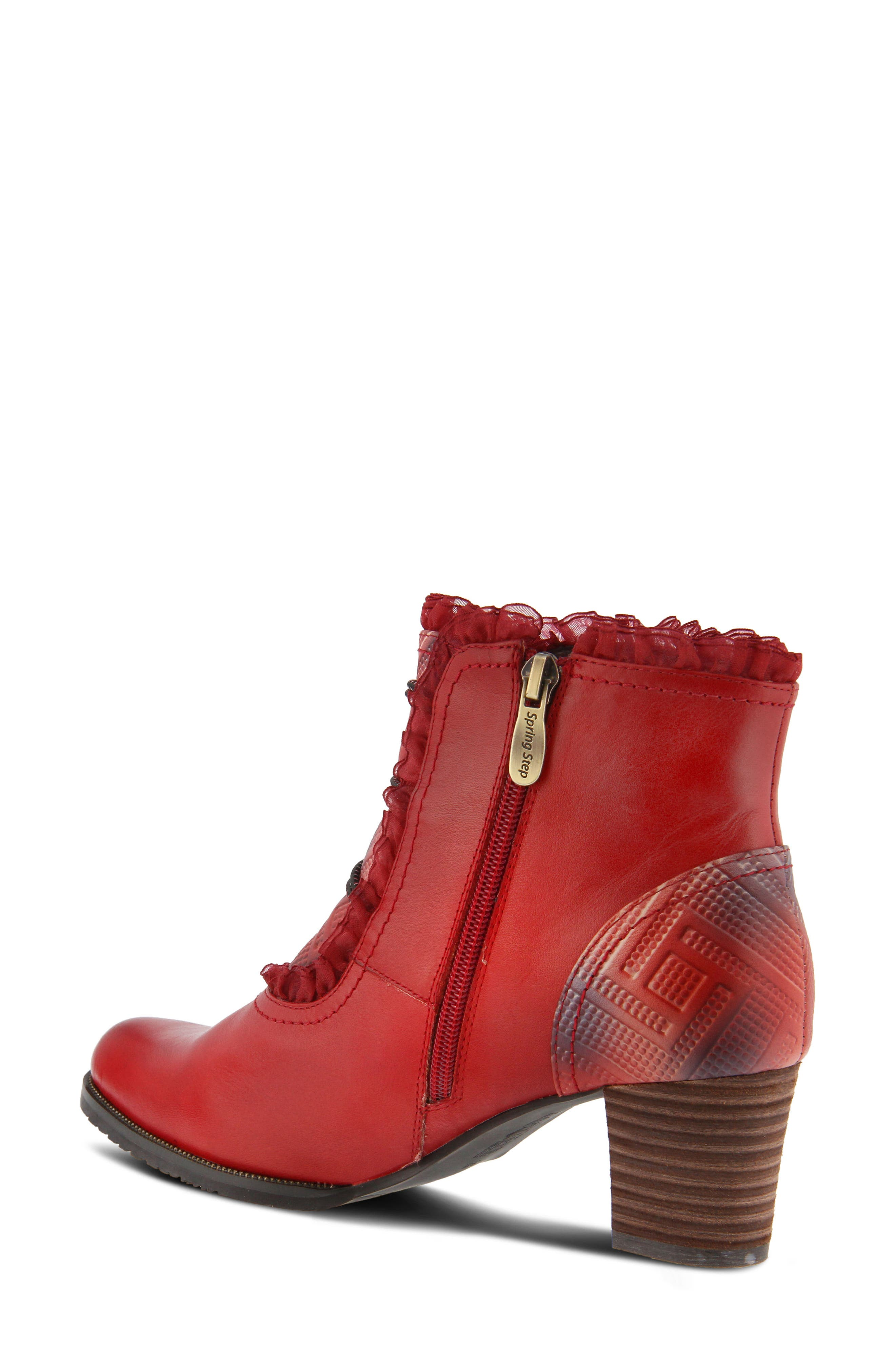 L'Artiste Conchita Boot,                             Alternate thumbnail 2, color,                             Red Leather