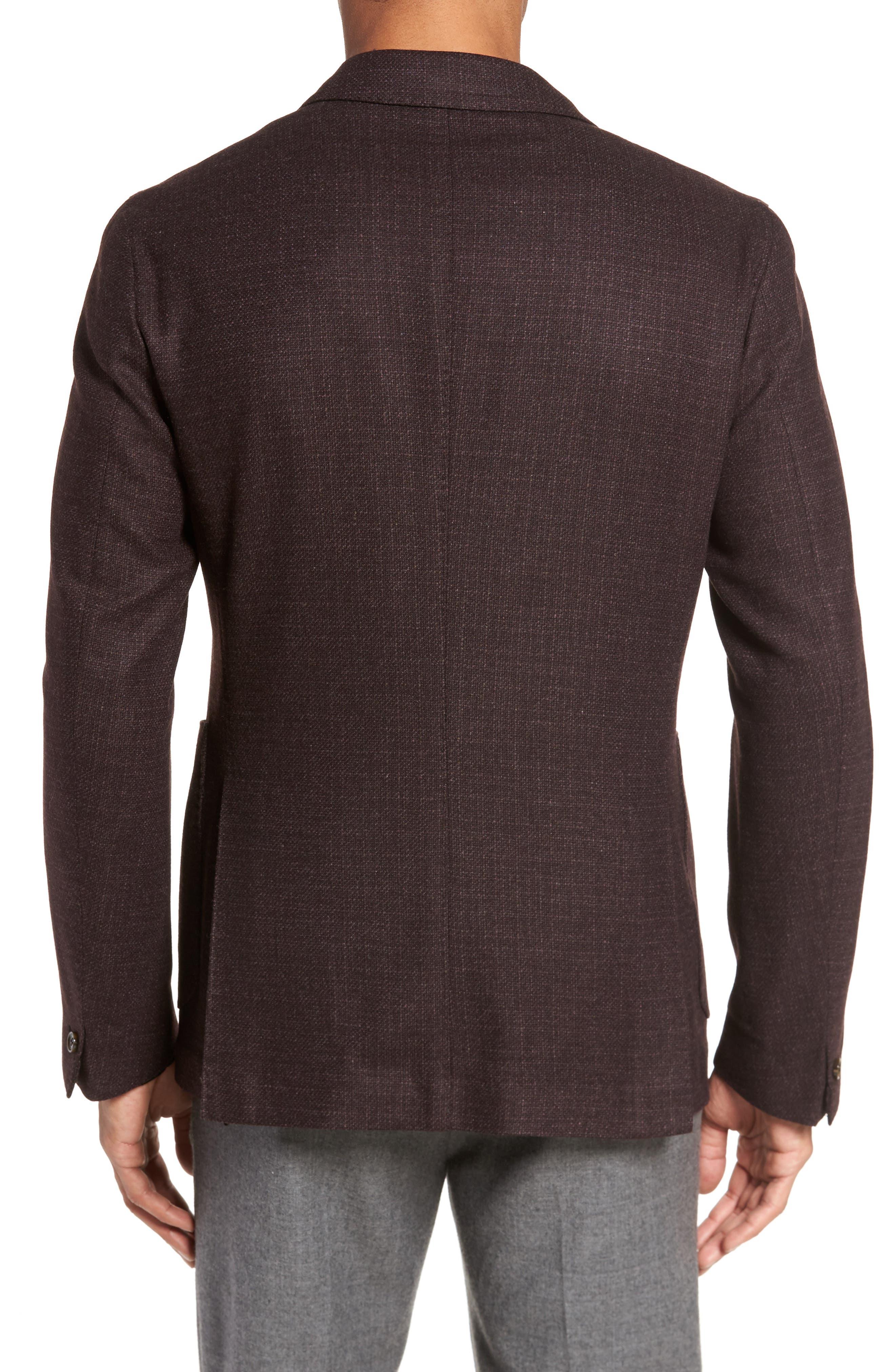 Trim Fit Wool & Cashmere Blazer,                             Alternate thumbnail 2, color,                             Wine