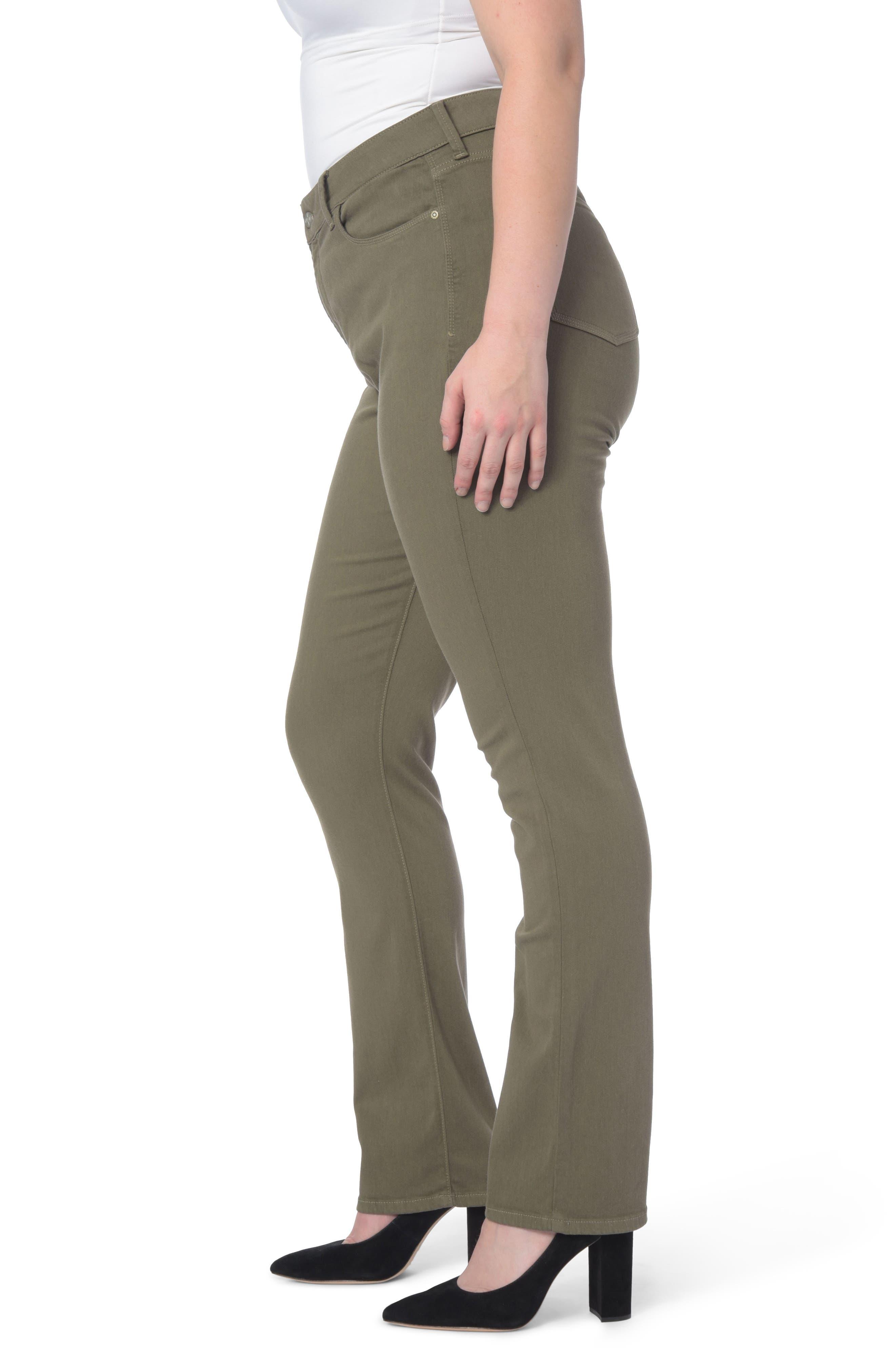 Alternate Image 3  - NYDJ Marilyn Stretch Straight Leg Jeans (Plus Size)