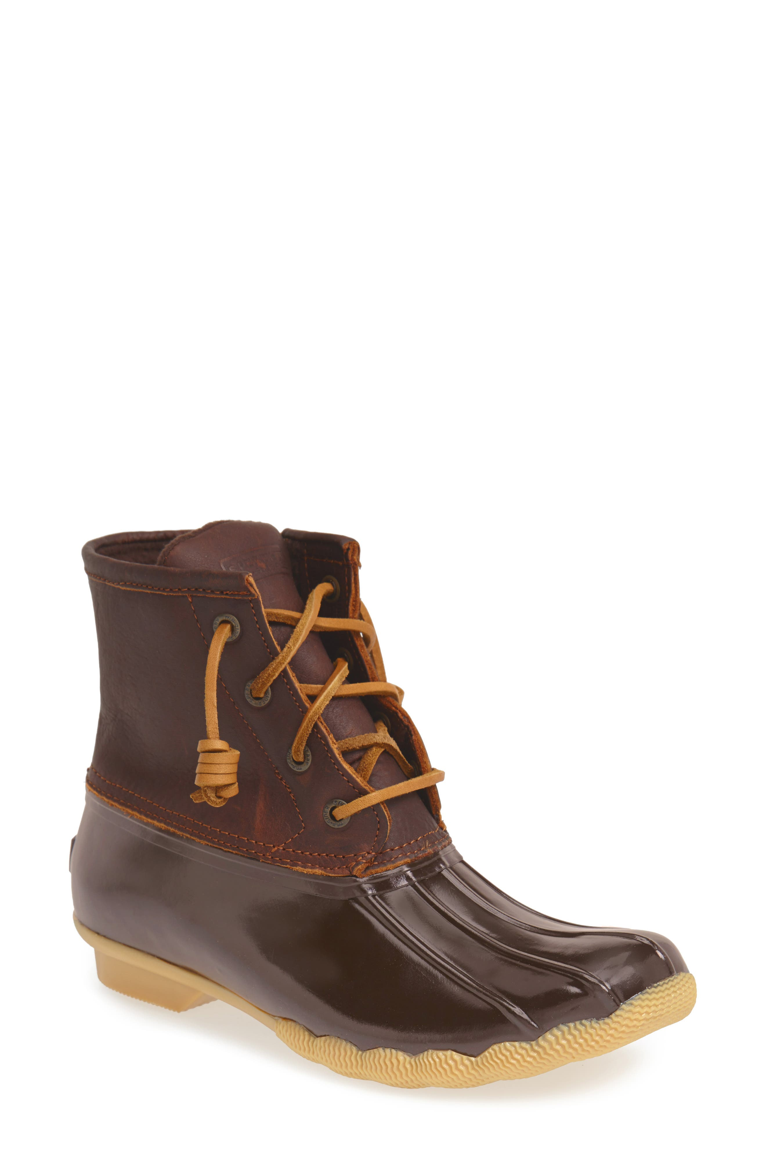 Saltwater Rain Boot,                             Main thumbnail 1, color,                             Tan/ Brown