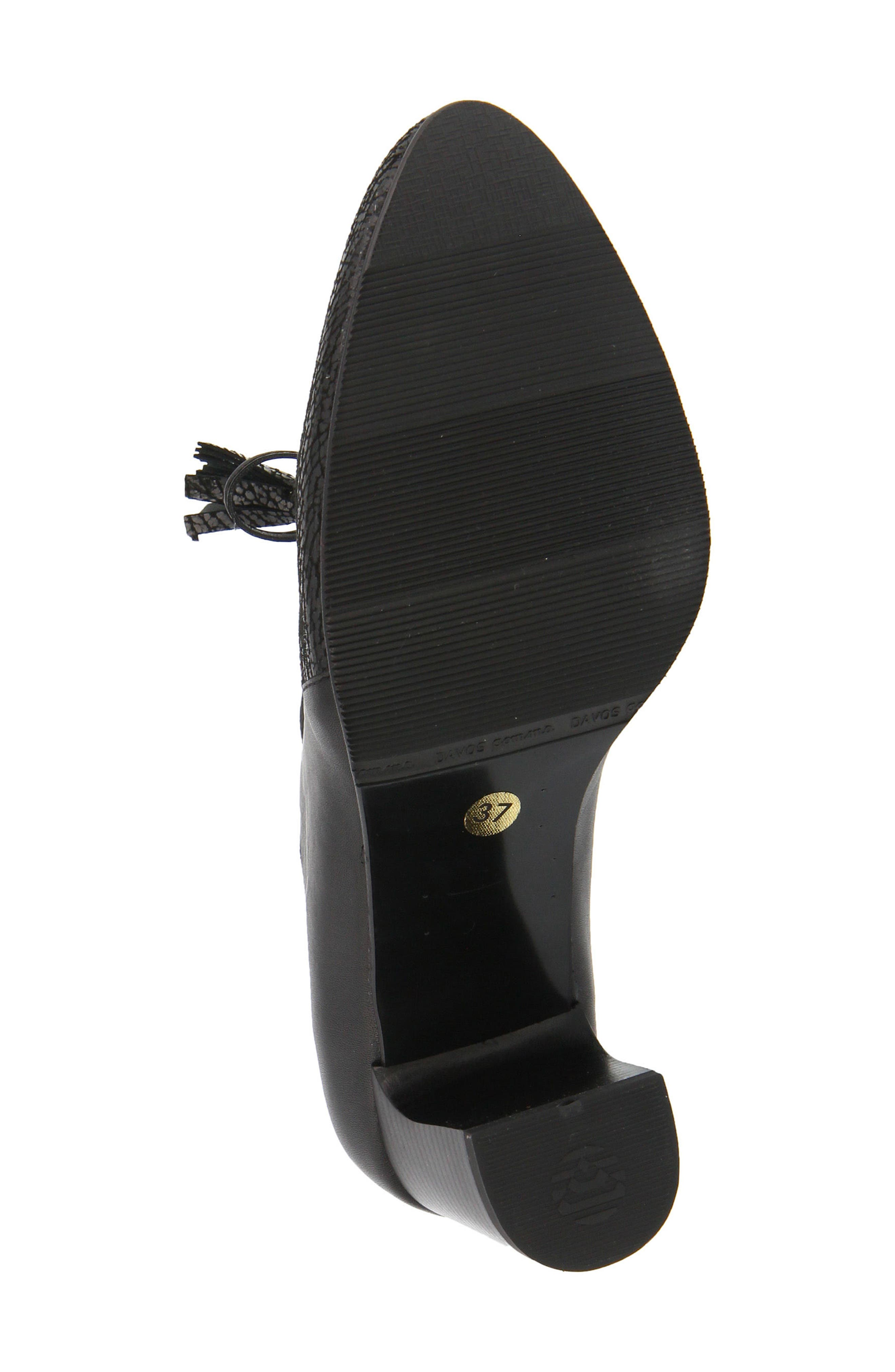 Conquer Foldover Cuff Bootie,                             Alternate thumbnail 5, color,                             Black Leather