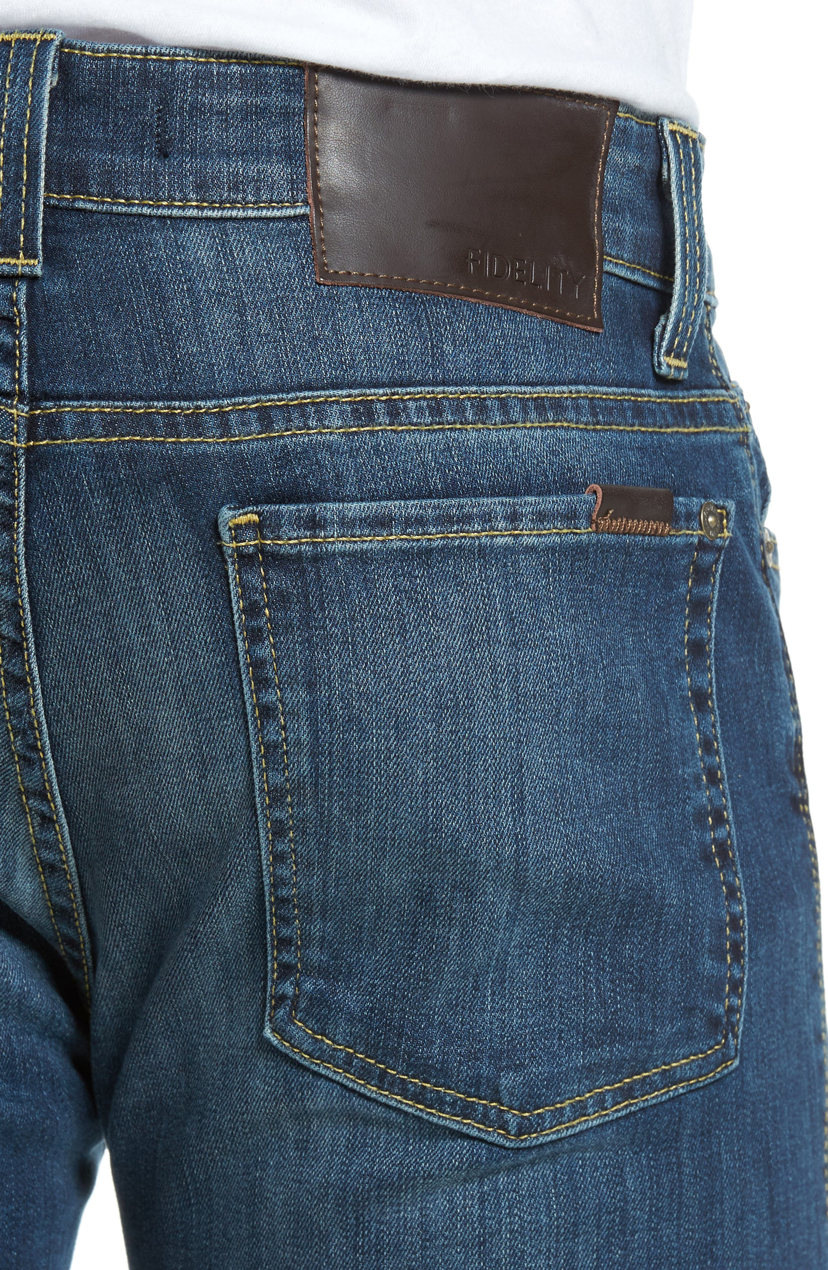 Alternate Image 4  - Fidelity Denim Torino Slim Fit Jeans (Providence)