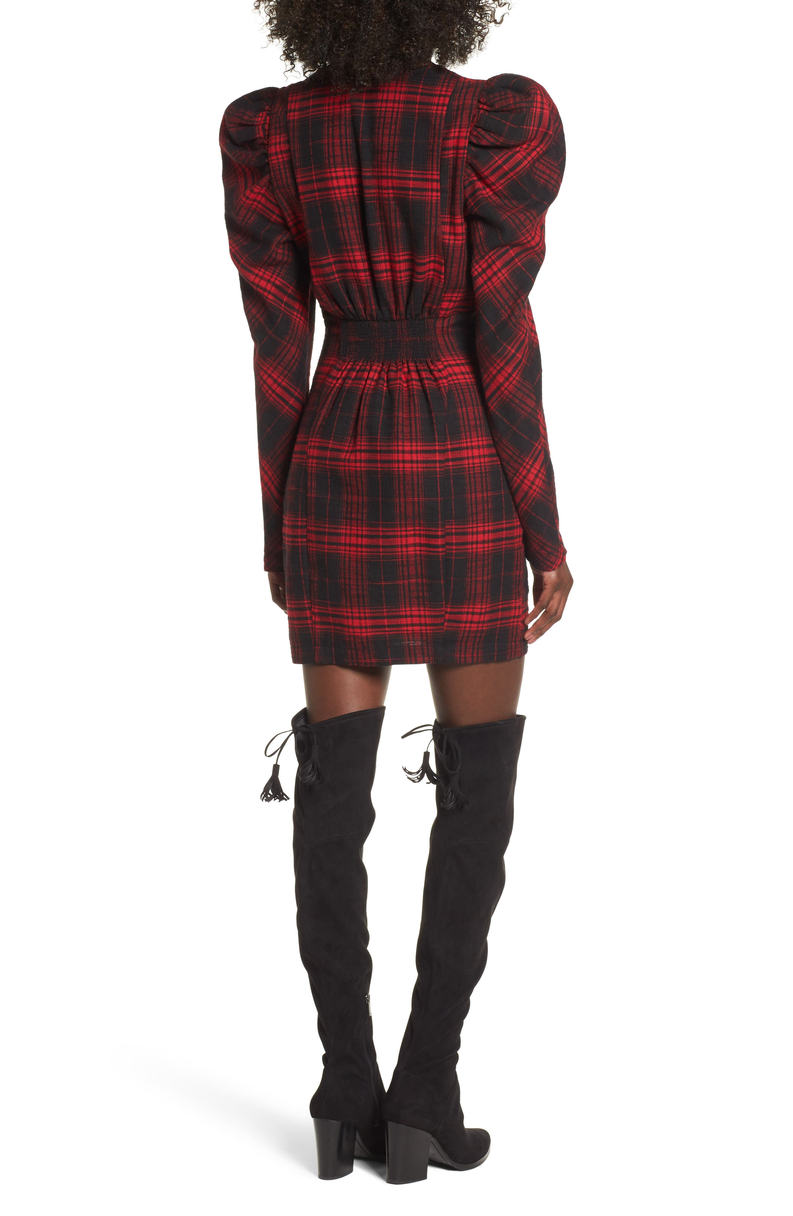 Alternate Image 2  - AFRM Jonah Puff Sleeve Flannel Dress