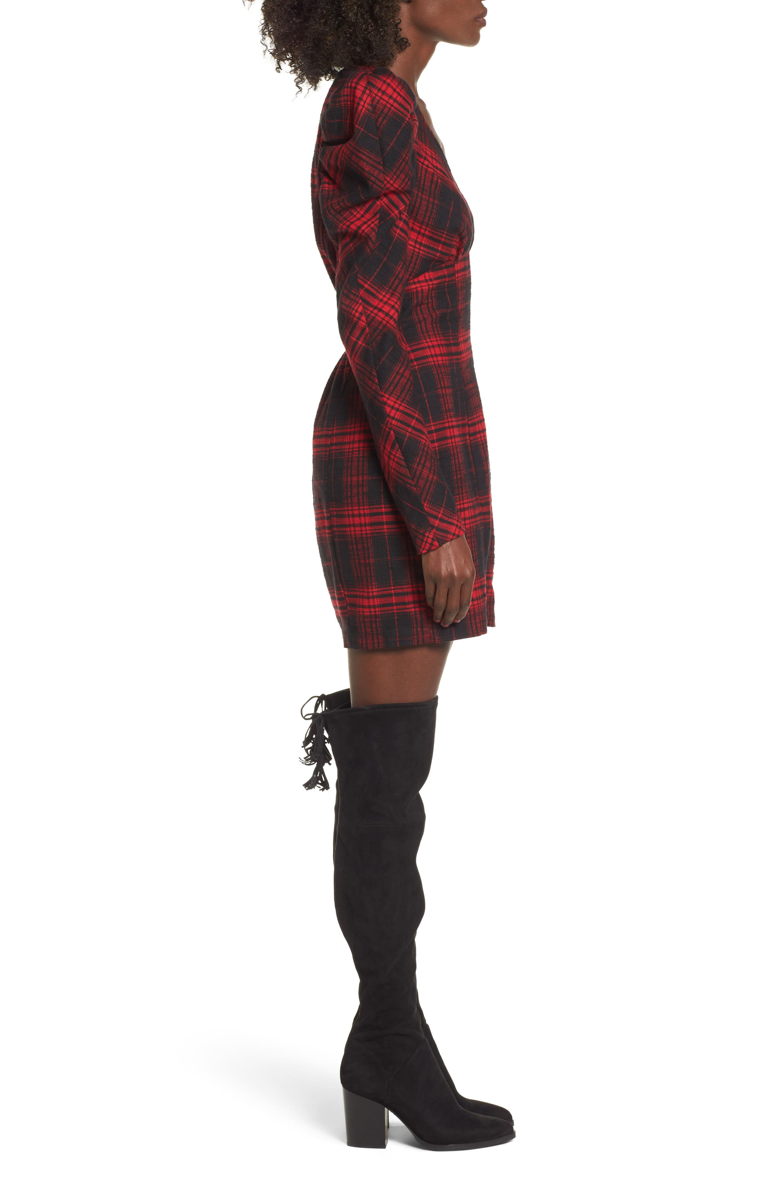 Alternate Image 3  - AFRM Jonah Puff Sleeve Flannel Dress